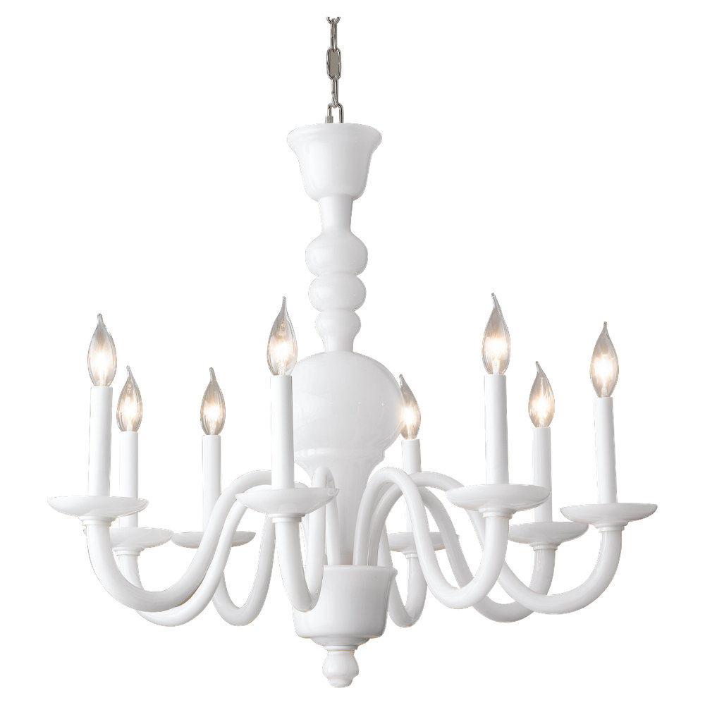 White milk glass chandelier chandelier designs f2318 8mkg 8 light chandelier milk glass aloadofball Gallery