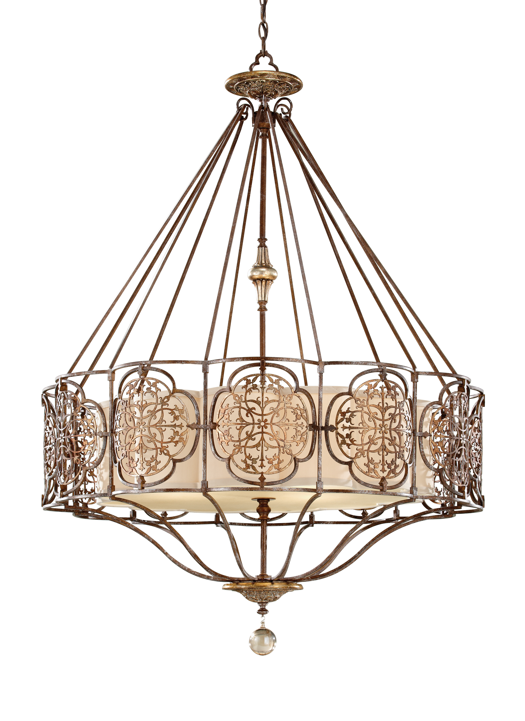 F2603/4BRB/OBZ,4 - Light Uplight Chandelier,British Bronze ...