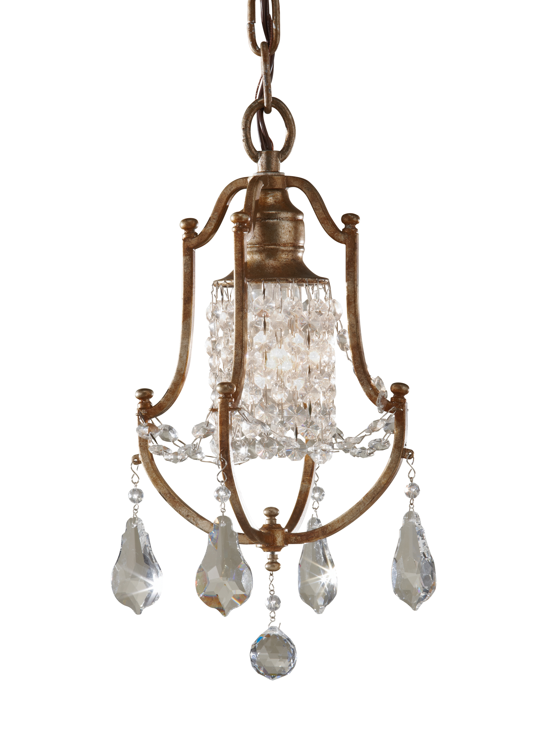 F2624/1OBZ,1 - Light Mini Duo Chandelier,Oxidized Bronze
