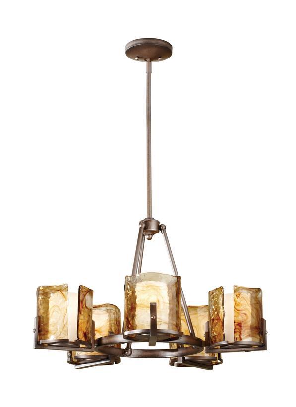 F26895rbz5 light single tier chandelierroman bronze aloadofball Images