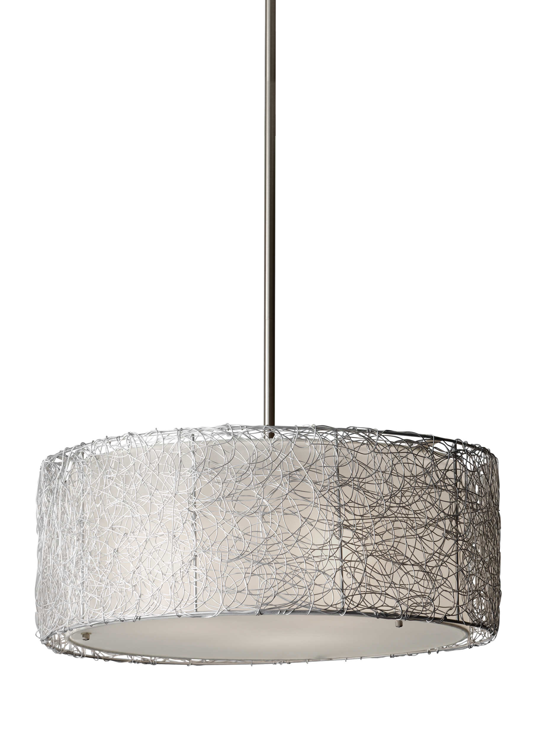 F27023bs3 light chandelierbrushed steel loading zoom arubaitofo Images