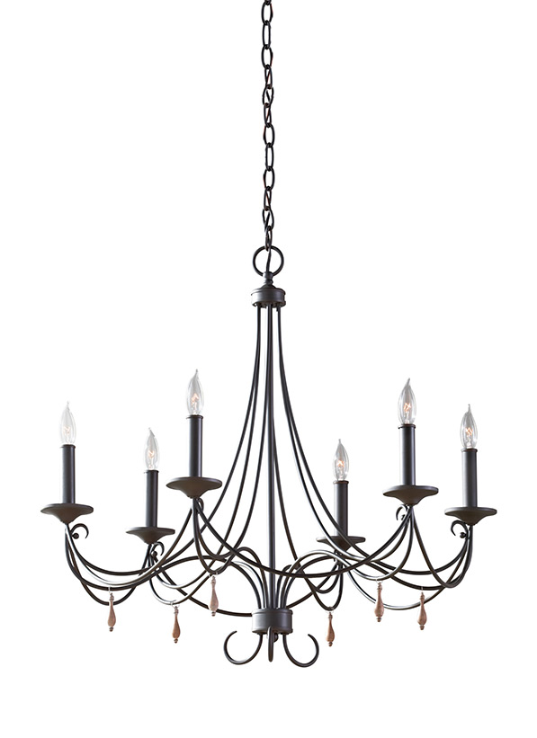 F27466ri6 light single tier chandelierrustic iron mozeypictures Image collections