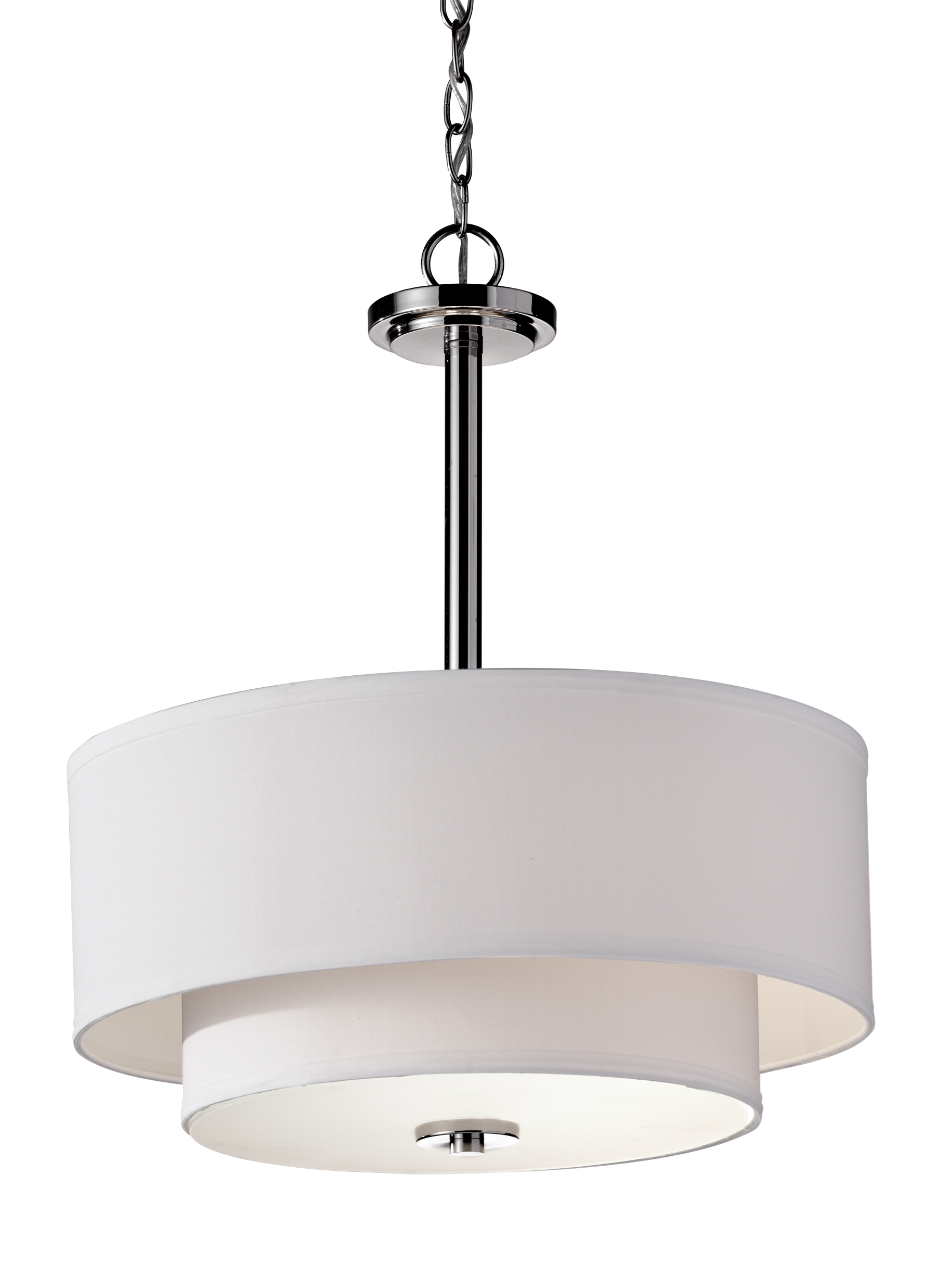 F2770 3PN 3 Light Pendant Polished Nickel