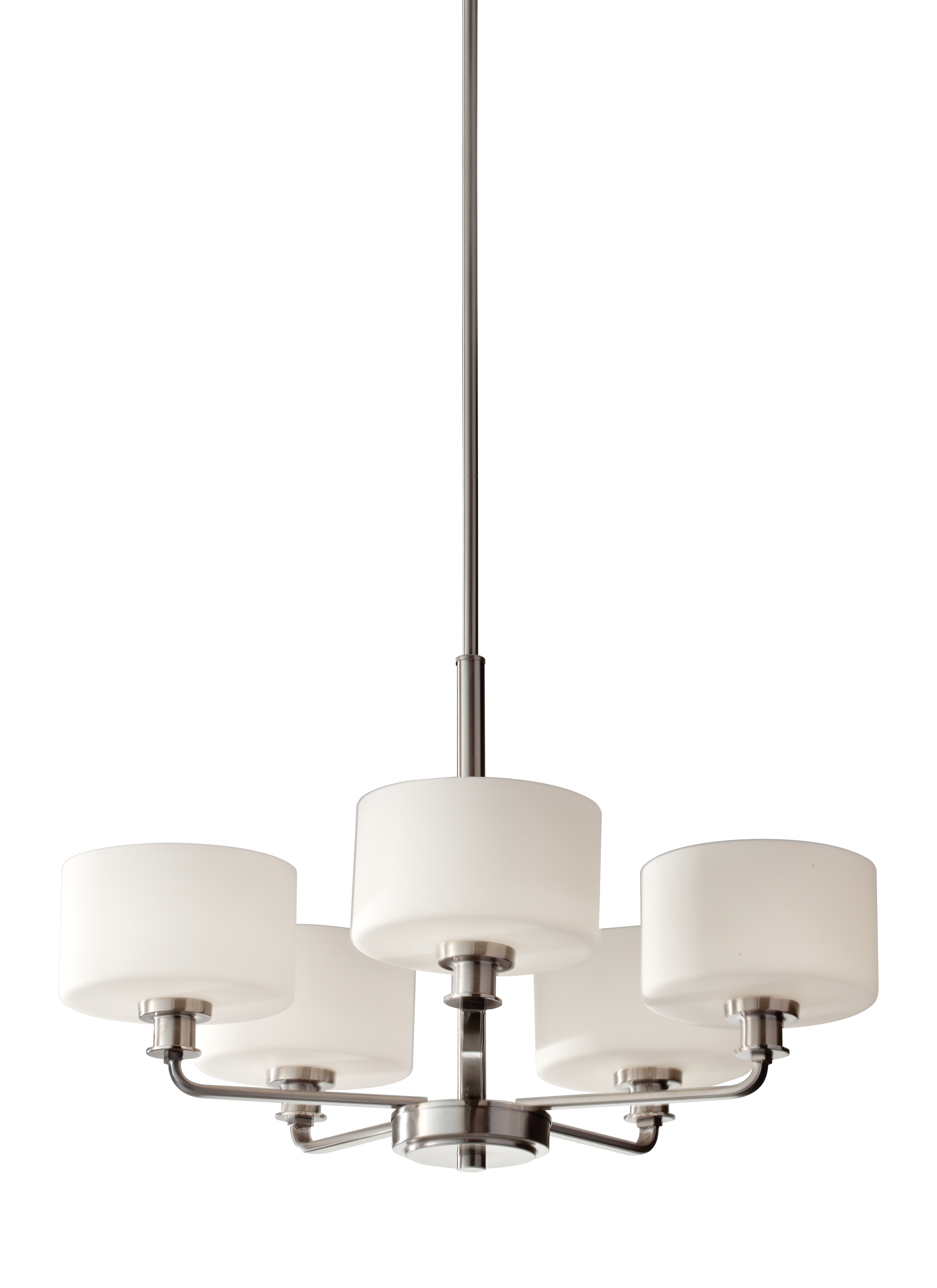 F2773 5BS 5 Light Single Tier Chandelier Brushed Steel