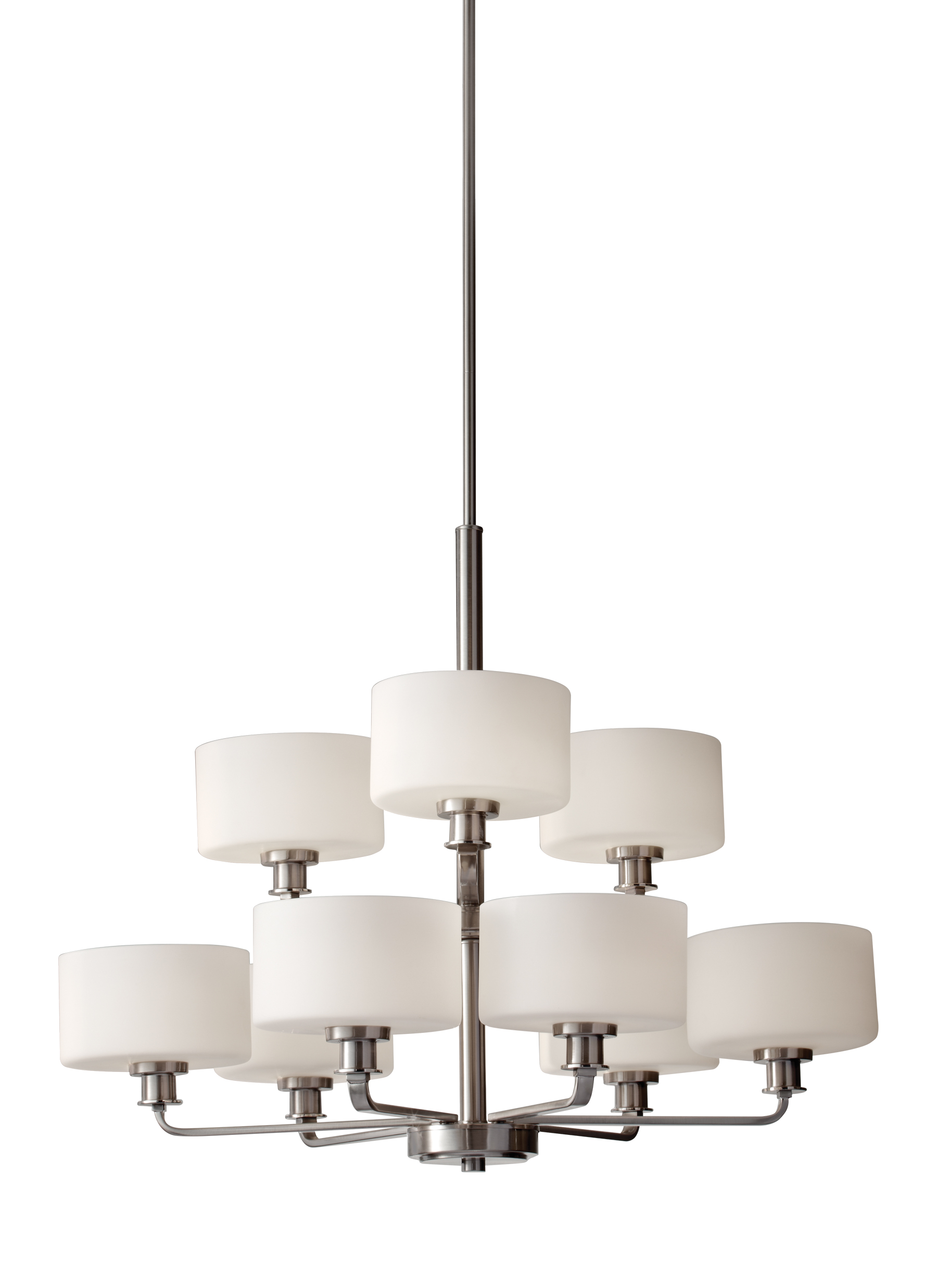 Loading zoom  sc 1 st  Feiss & F2774/6+3BS9 - Light Multi Tier ChandelierBrushed Steel