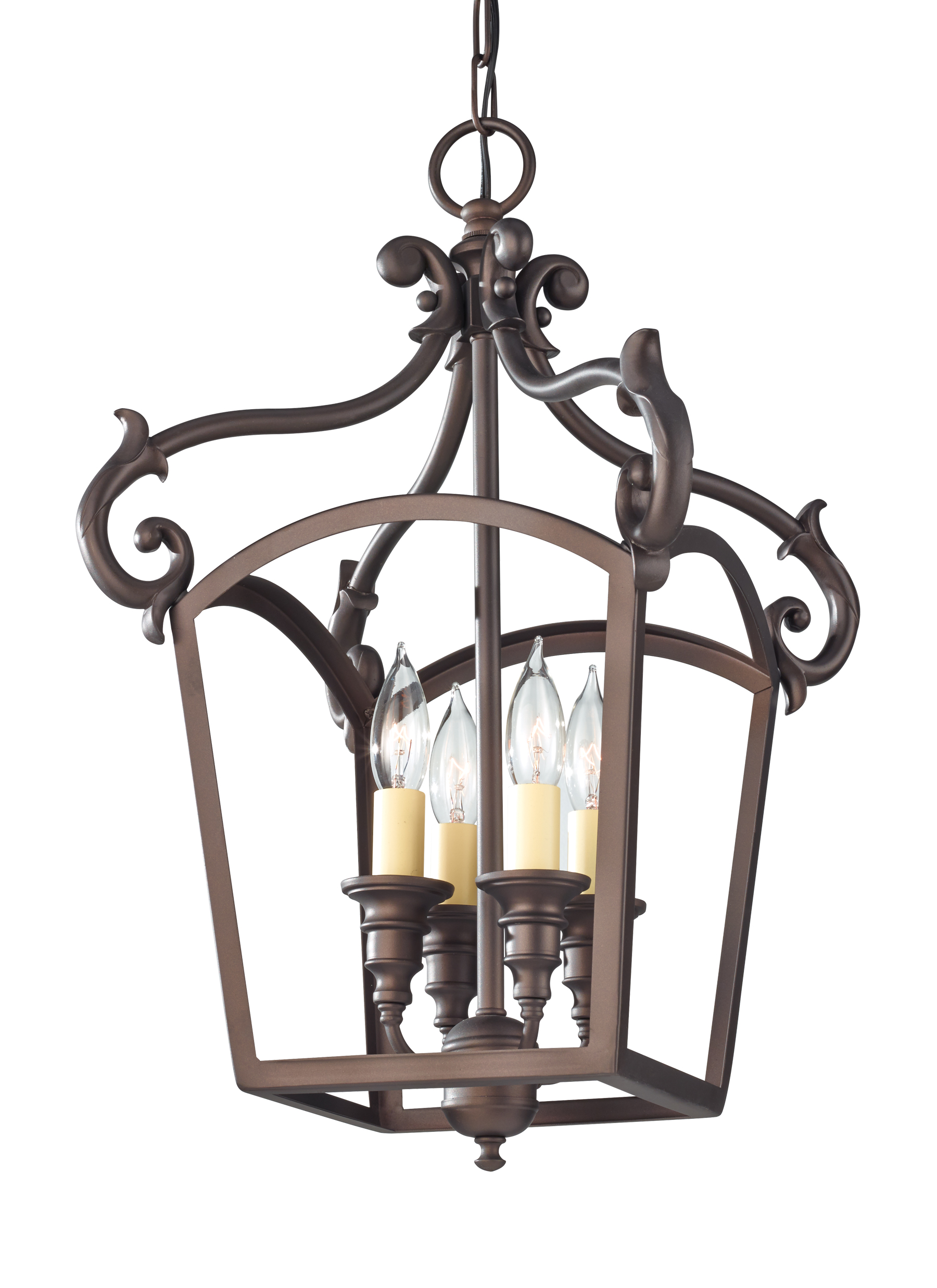 F2801 4ORB 4 Light Hall Chandelier Oil Rubbed Bronze