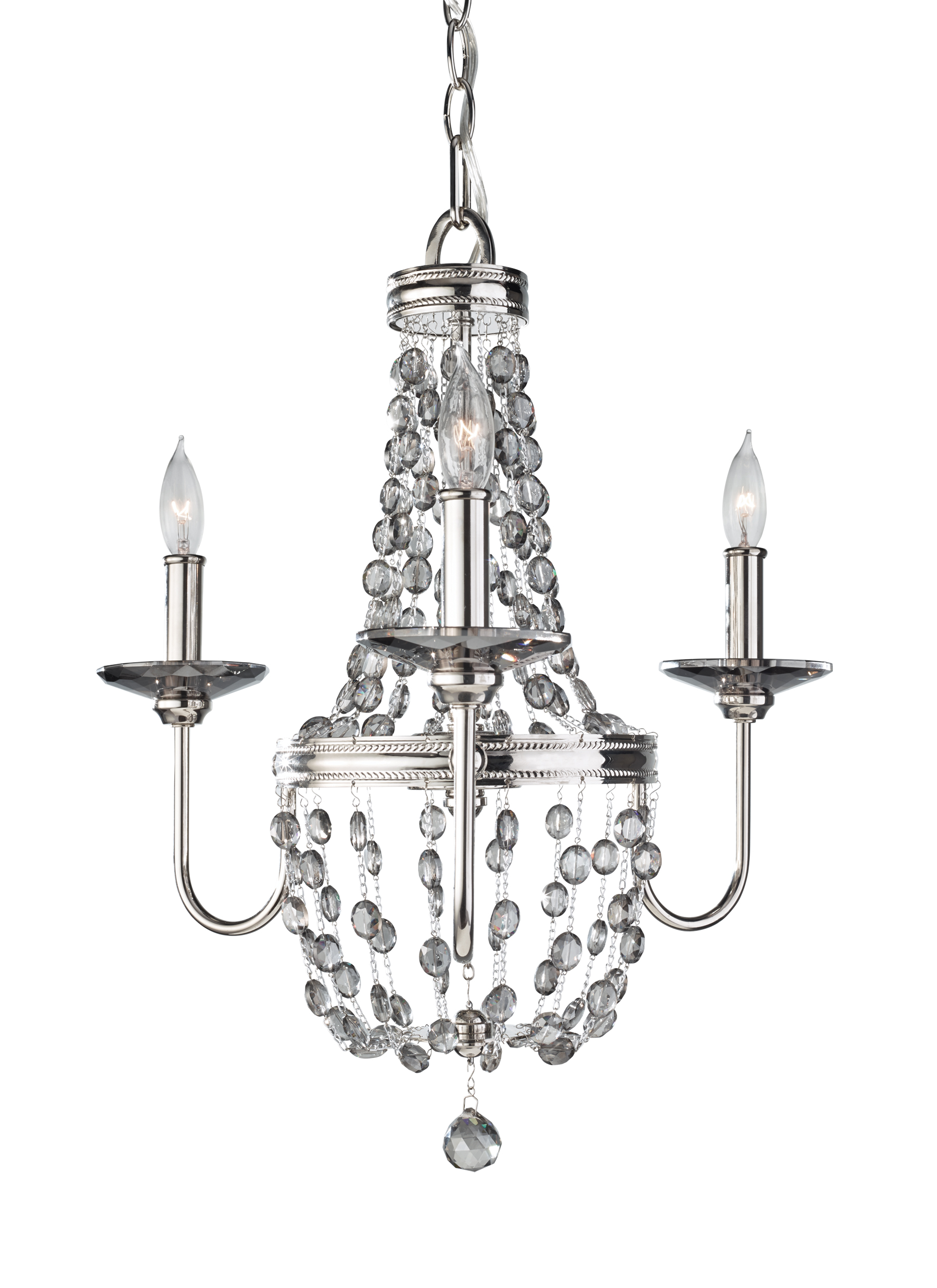 F28133pn3 light mini chandelierpolished nickel loading zoom aloadofball Images