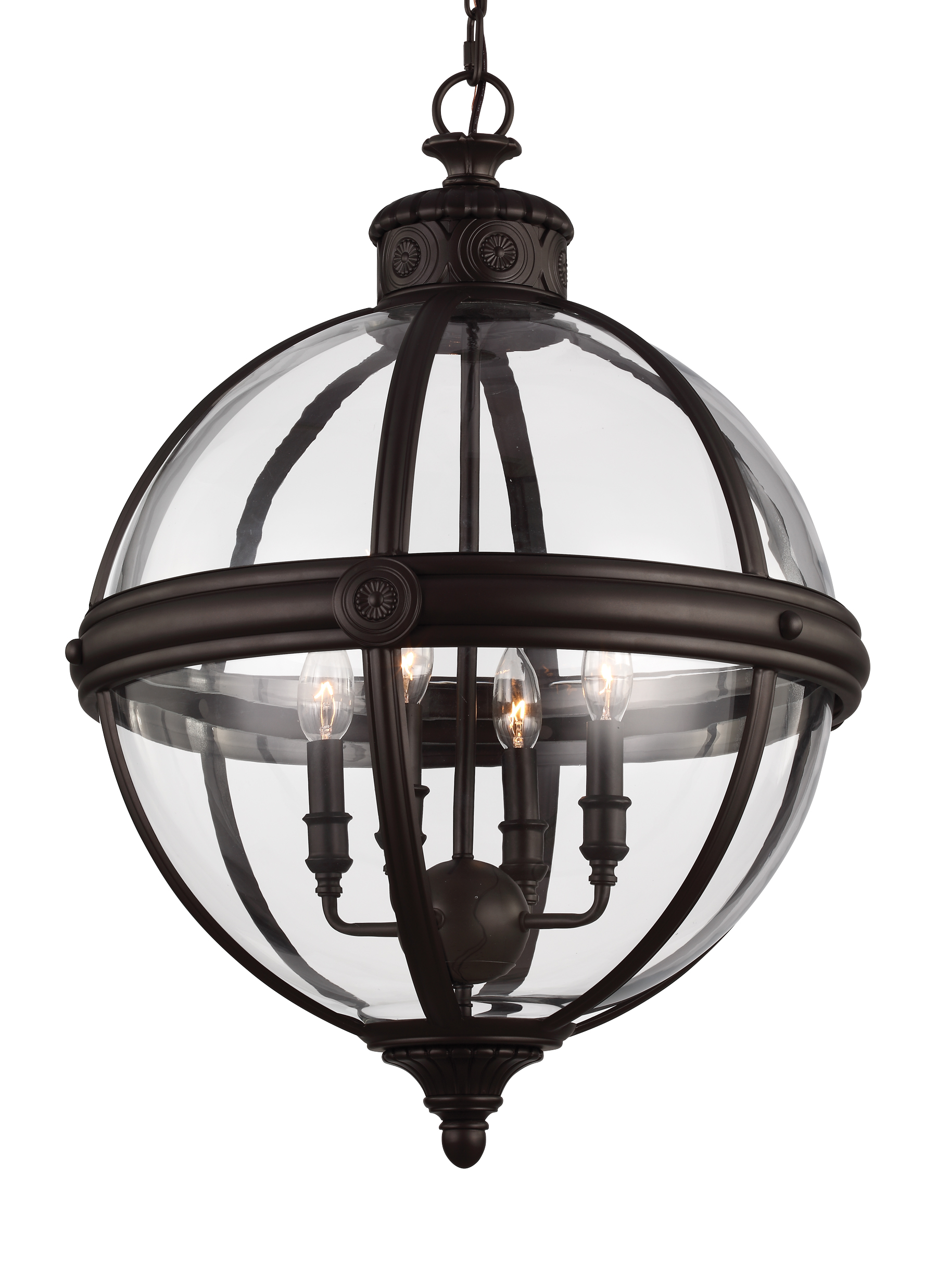 bronze pin chandelier orb aged industries sterling strathroy light in