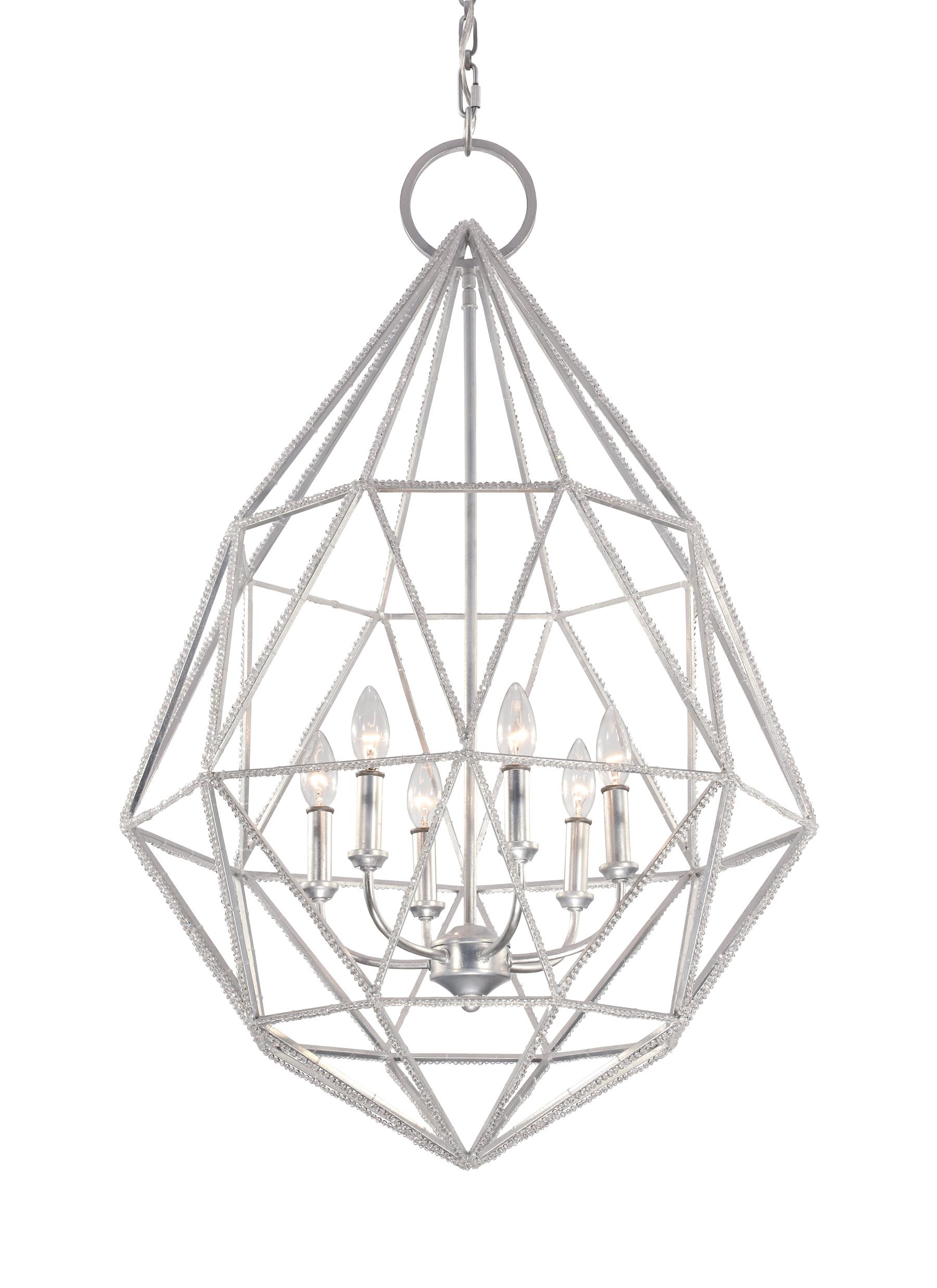 F29426slv6 light marquise chandeliersilver loading zoom aloadofball Choice Image