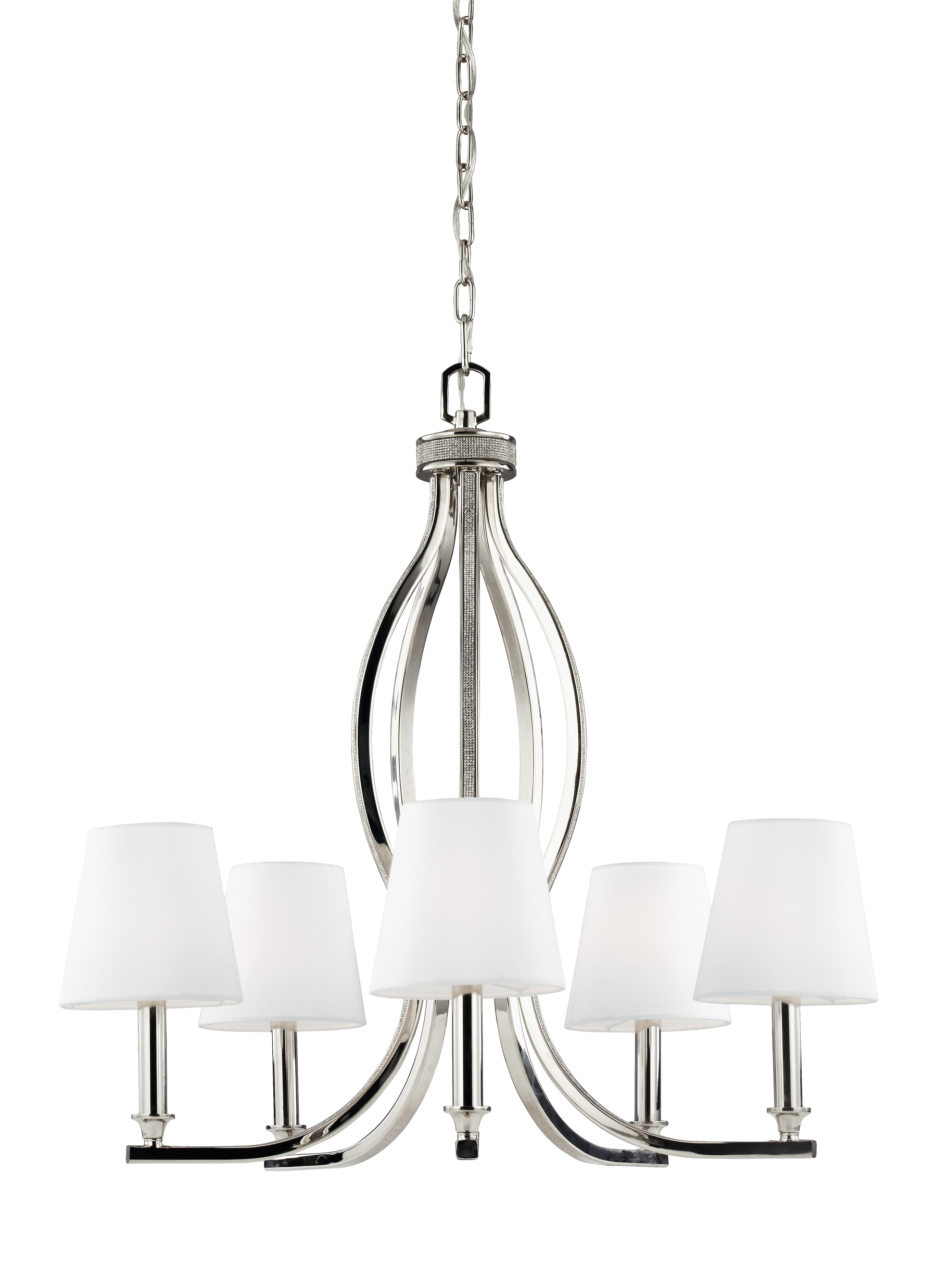 nickel hero hi chandelier luna res
