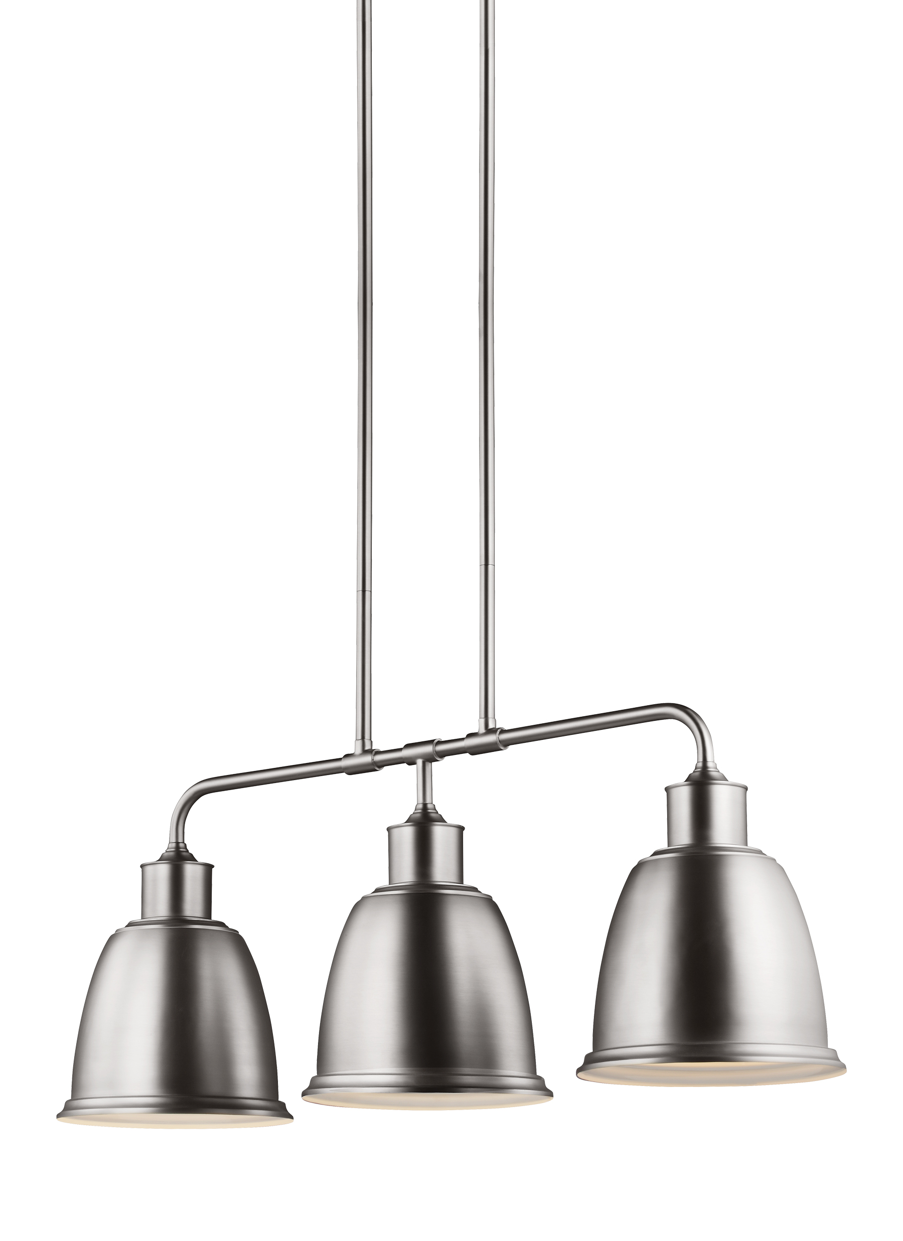 FSN Light IslandSatin Nickel - 3 pendant light fixture island