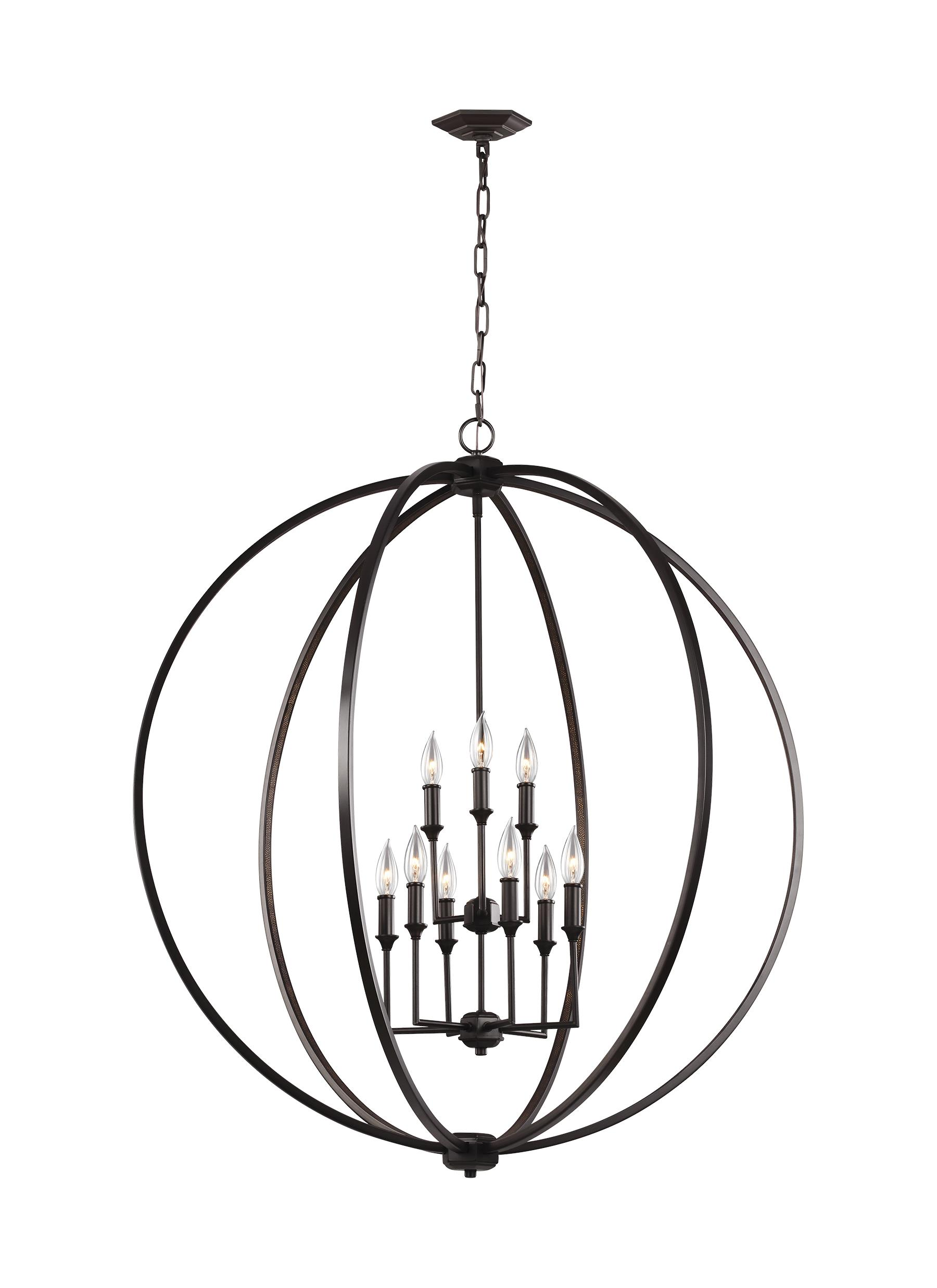 F3058 9ORB 9 Light Chandelier Oil Rubbed Bronze