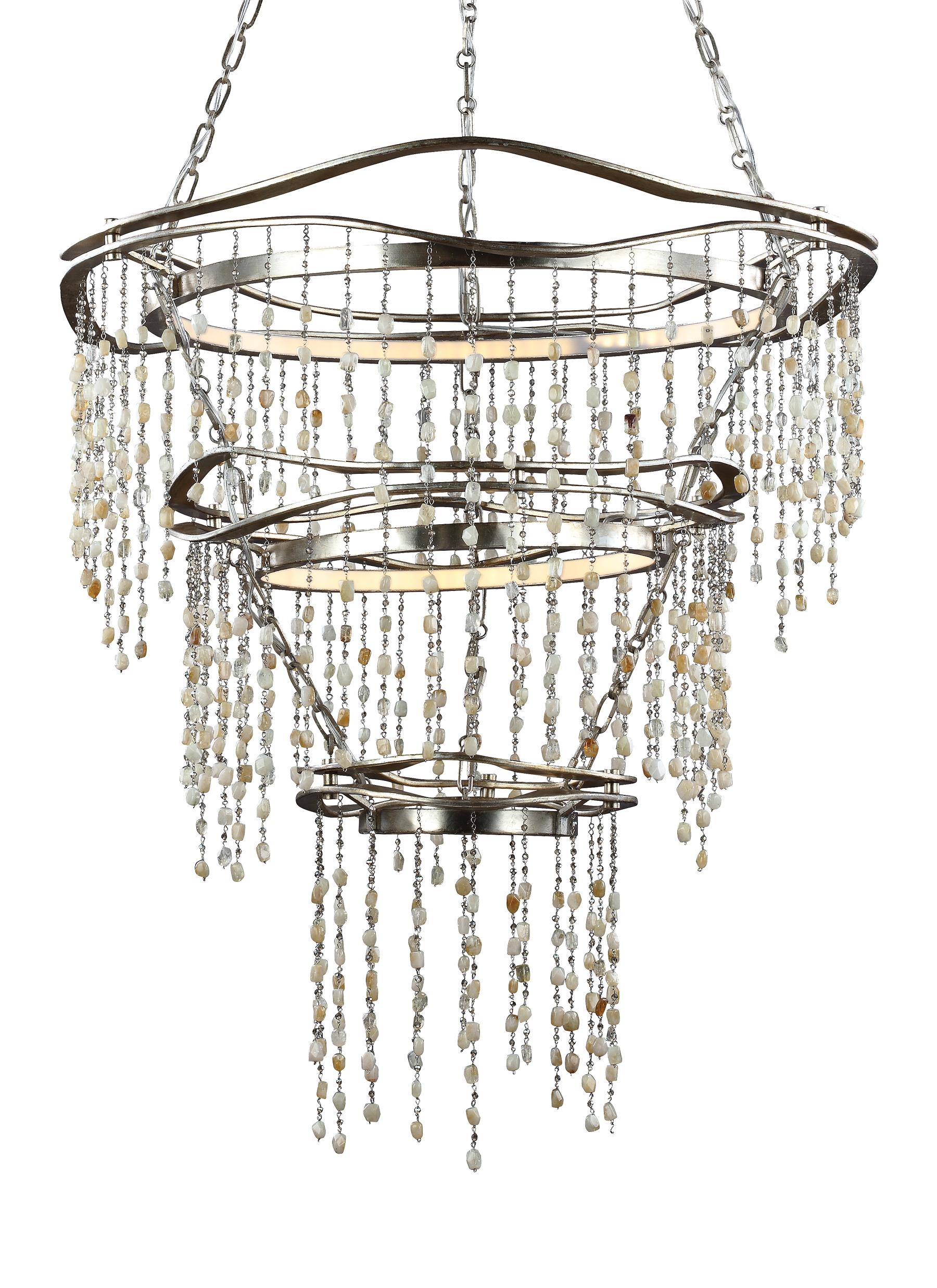 3 tier chandelier brass tier led chandelier loading zoom f30633sla3 chandeliersilver leaf antique