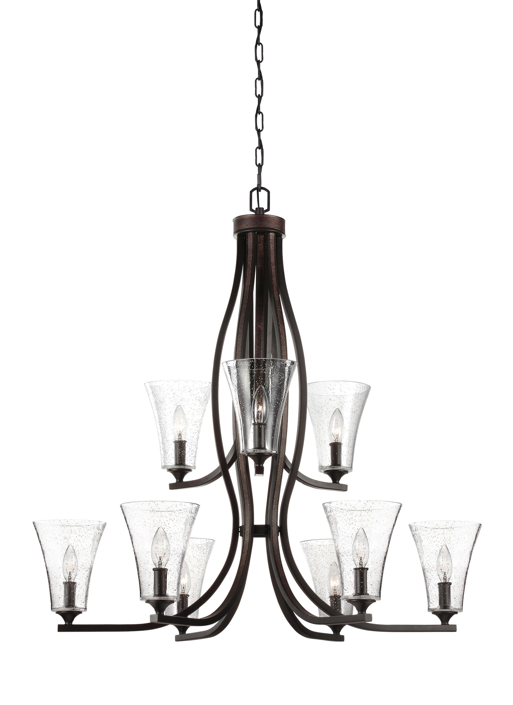 F3119 9ORB 9 Light Chandelier Oil Rubbed Bronze
