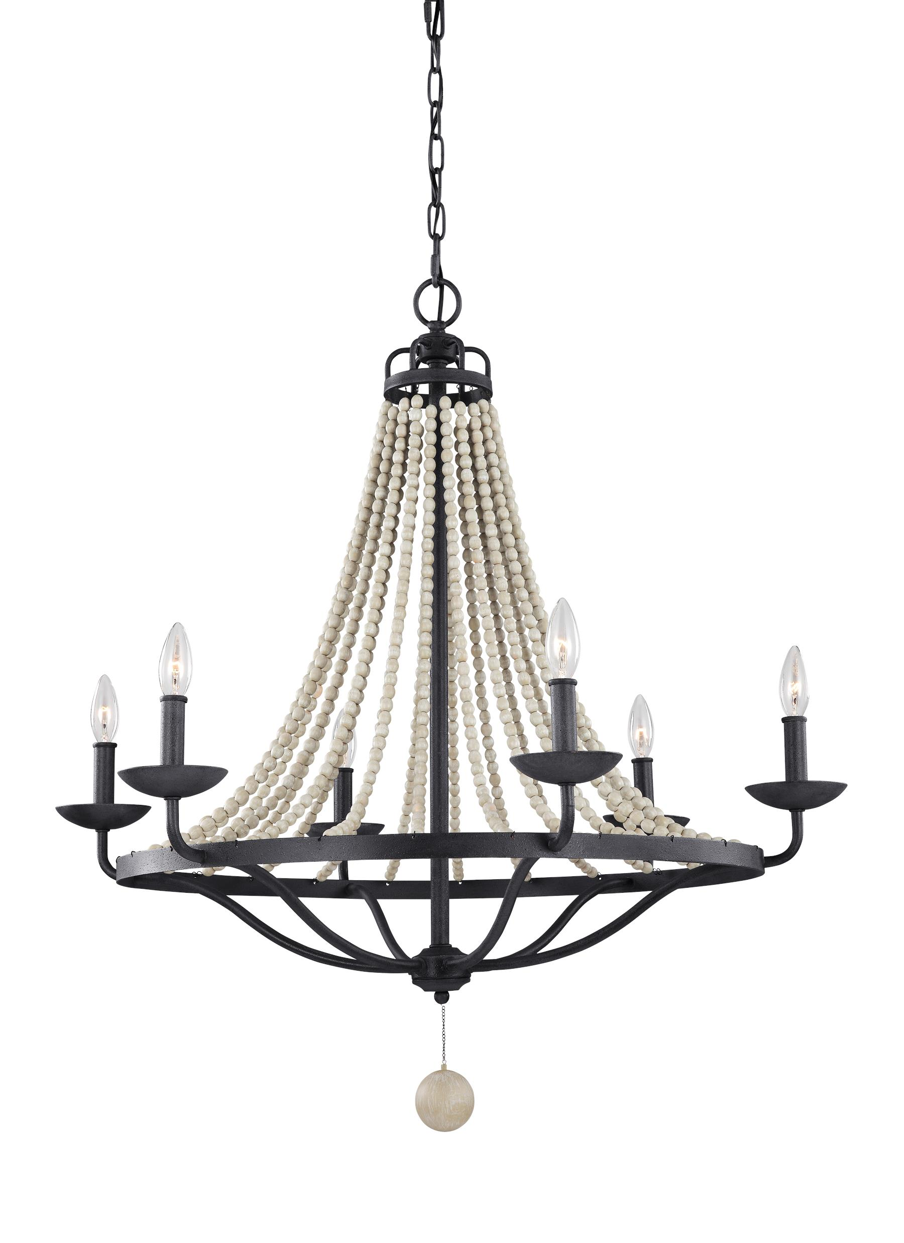 F31296dwzdwg6 light chandelierdark weathered zinc loading zoom arubaitofo Choice Image