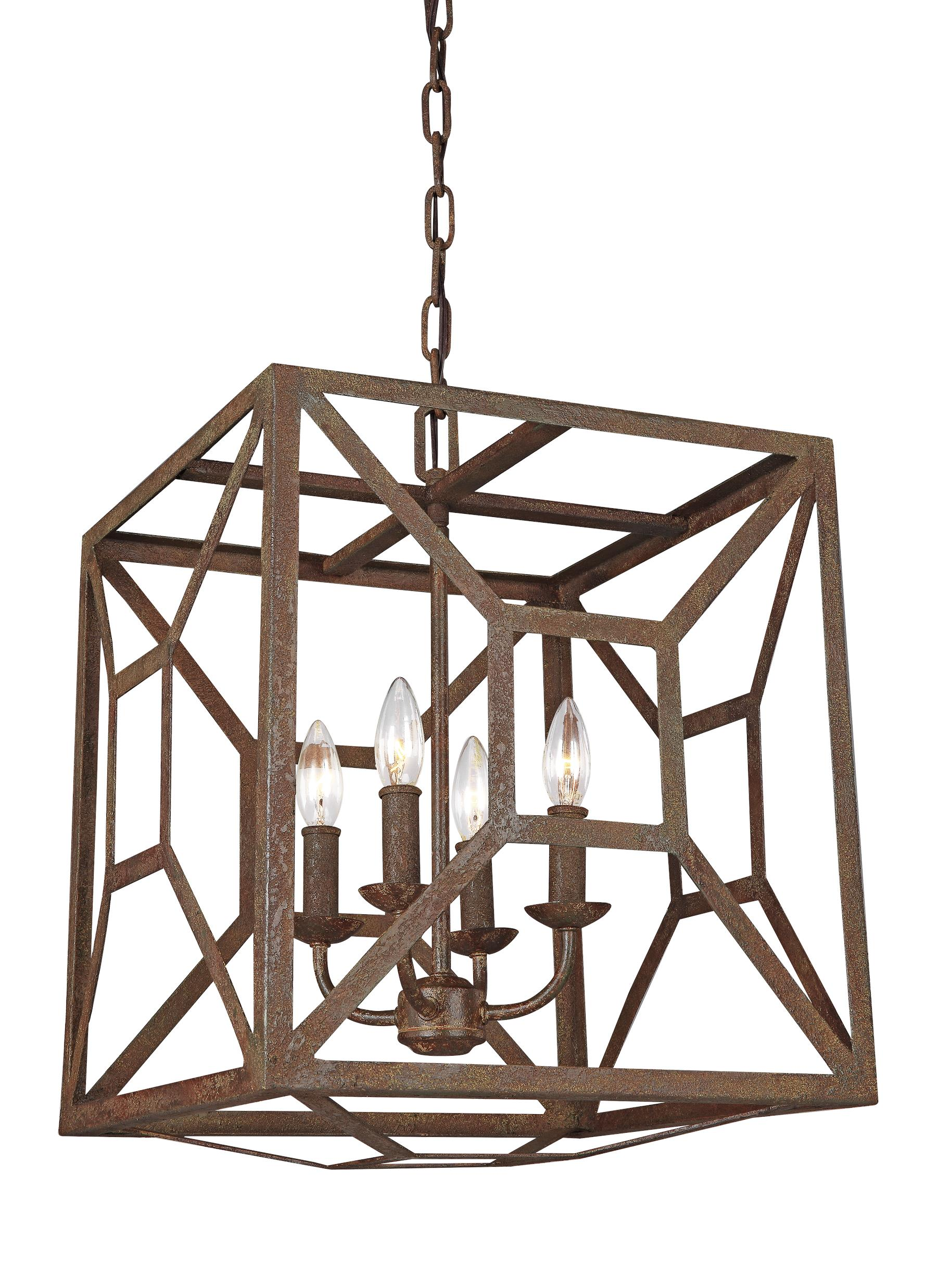 F3171 4WI 4 Light Chandelier Weathered Iron
