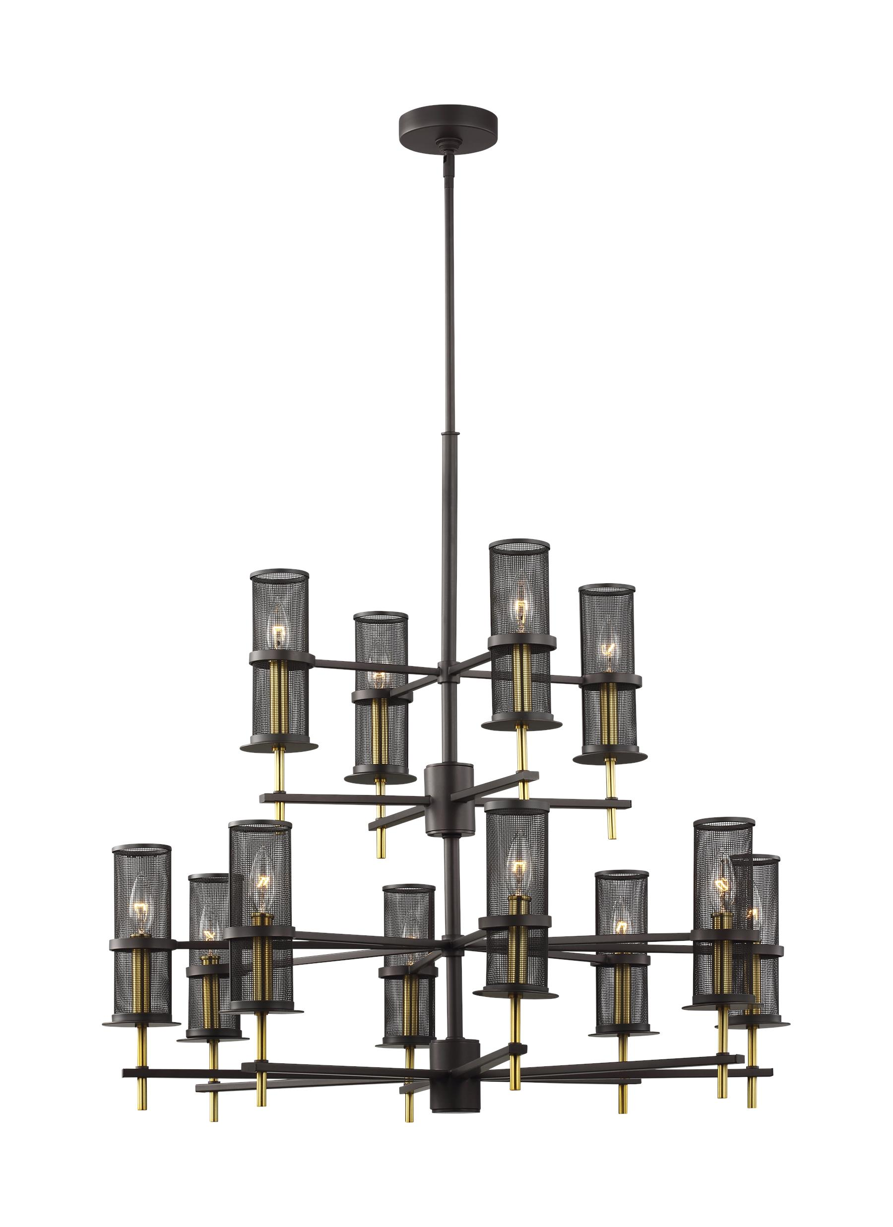 F3231/12ORB/BBS,12 - Light Chandelier,Oiled Rubbed Bronze ...