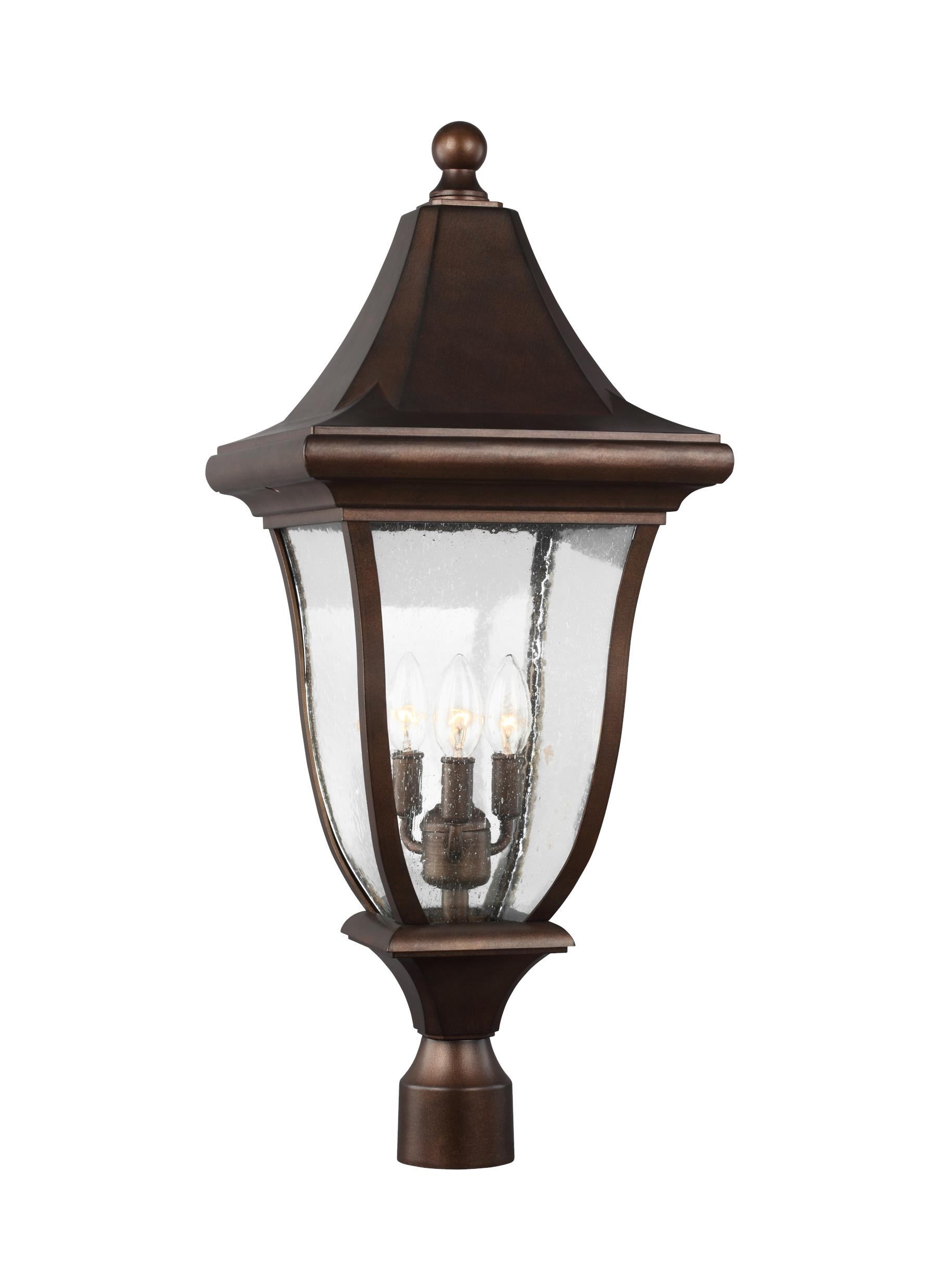 Ol13107ptbz 3 Light Outdoor Post Lantern Patina Bronze