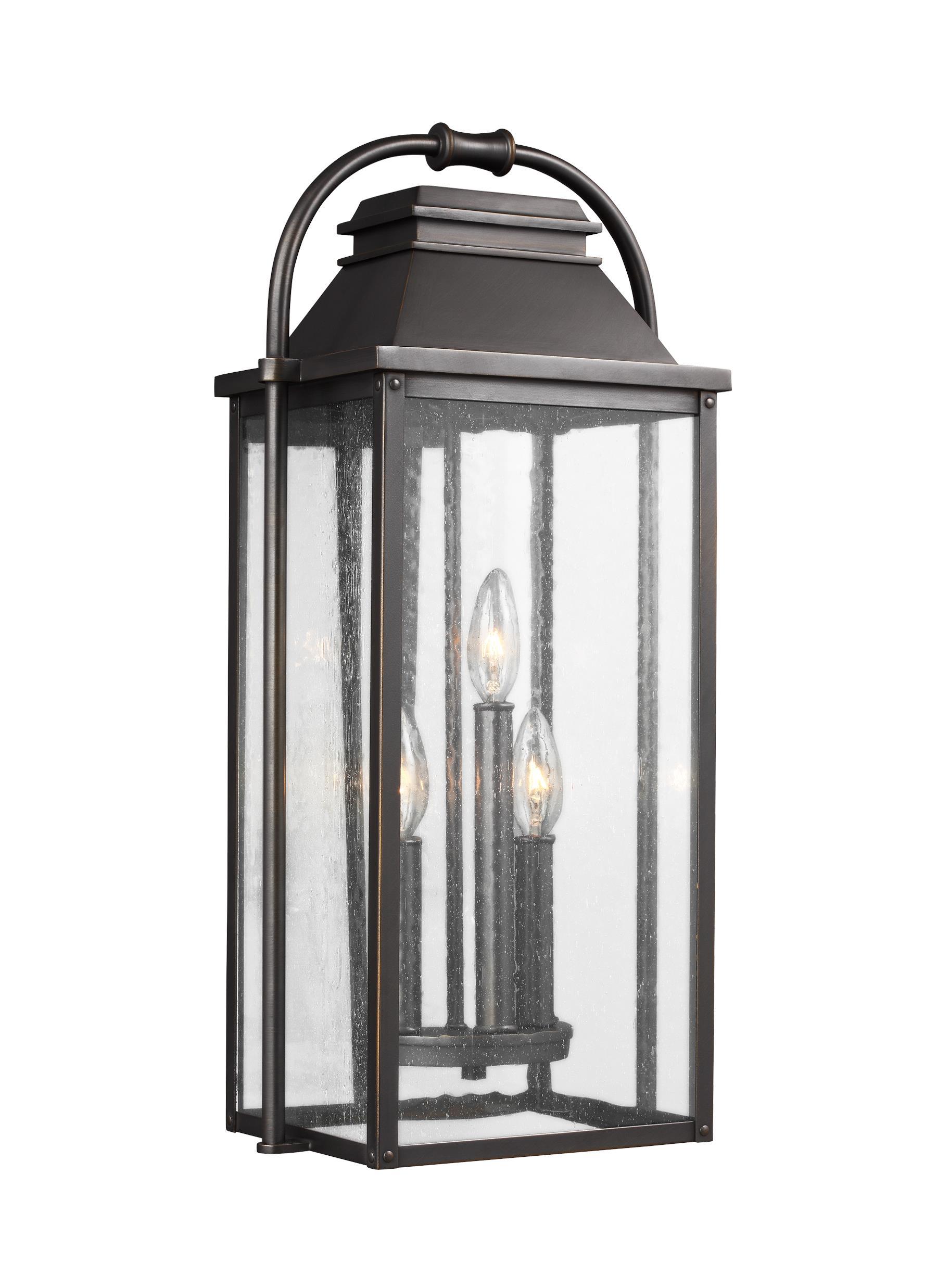 Ol13200pbs3 light outdoor wall lanternpainted brushed steel 3 light outdoor wall lantern workwithnaturefo