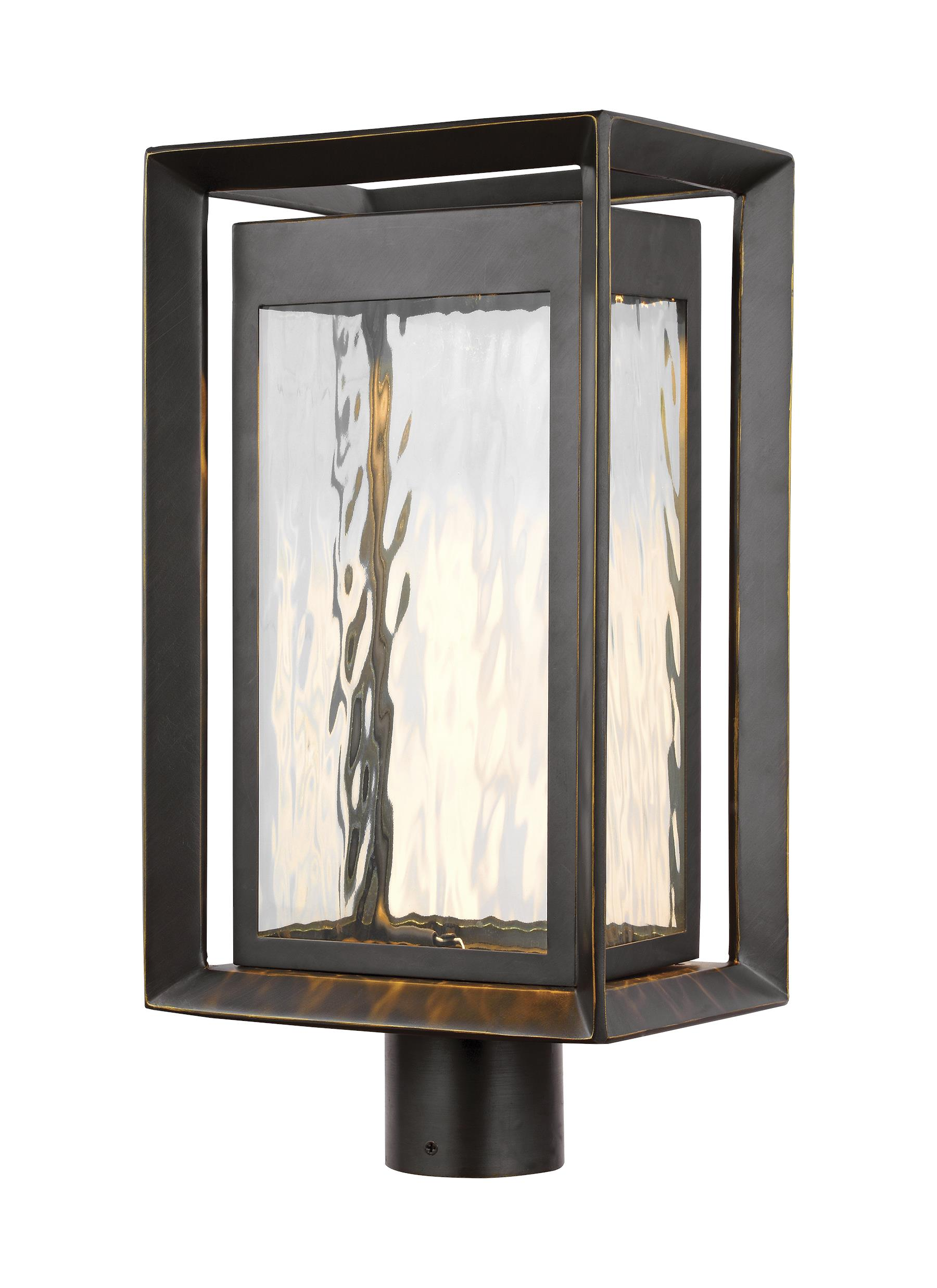 OL13707ANBZ-LED,1 - Light Outdoor LED Post Lantern,Antique Bronze