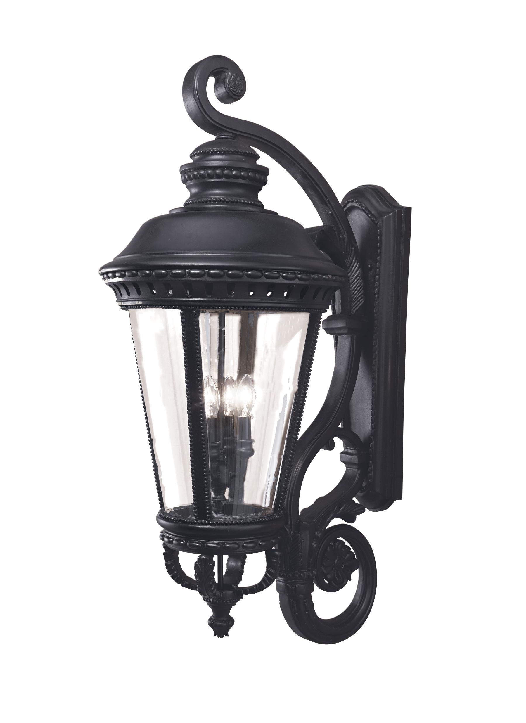 OL1905BK,4 - Light Wall Lantern,Black