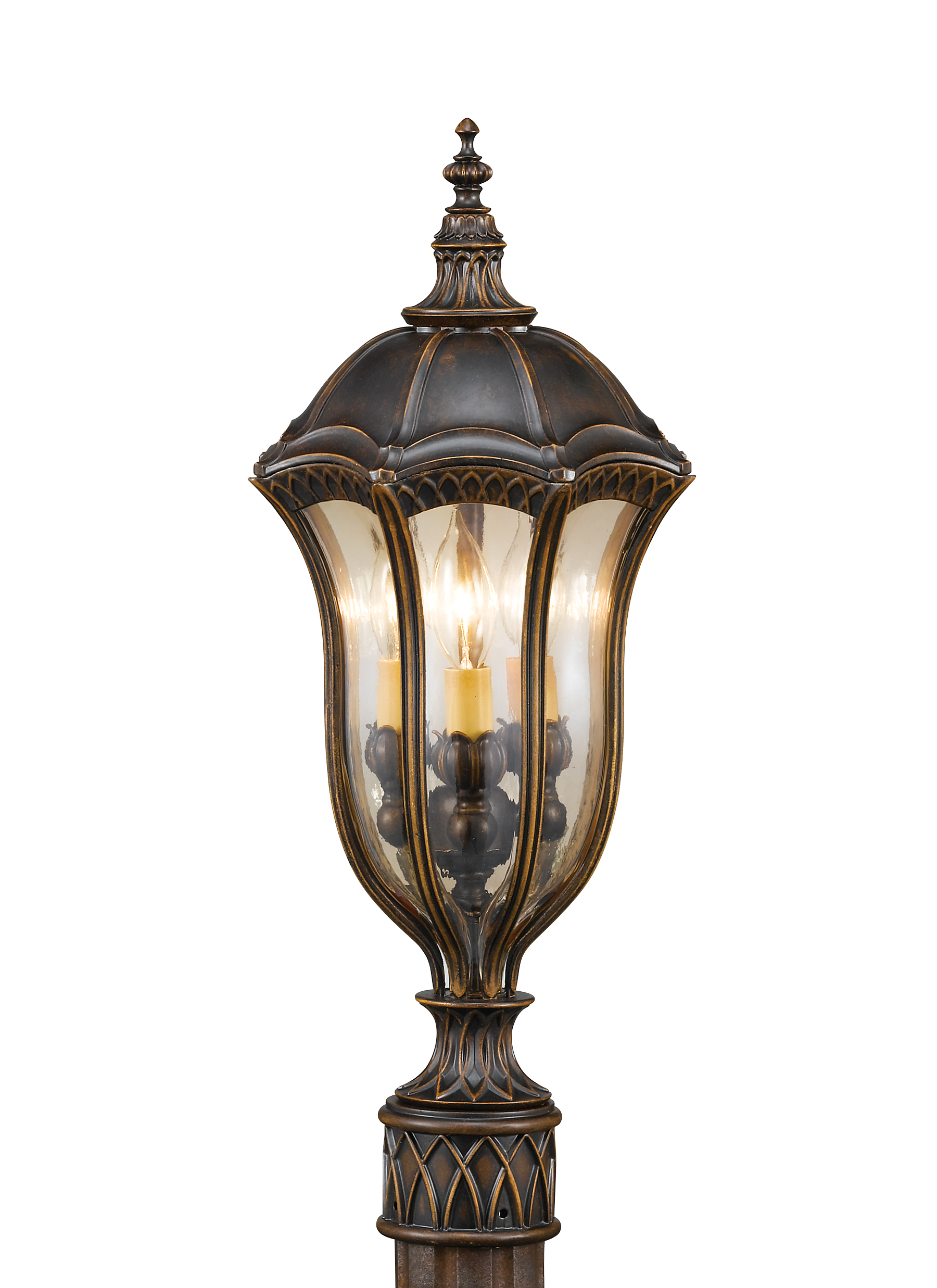 OL6007WAL,3 - Light Post,Walnut