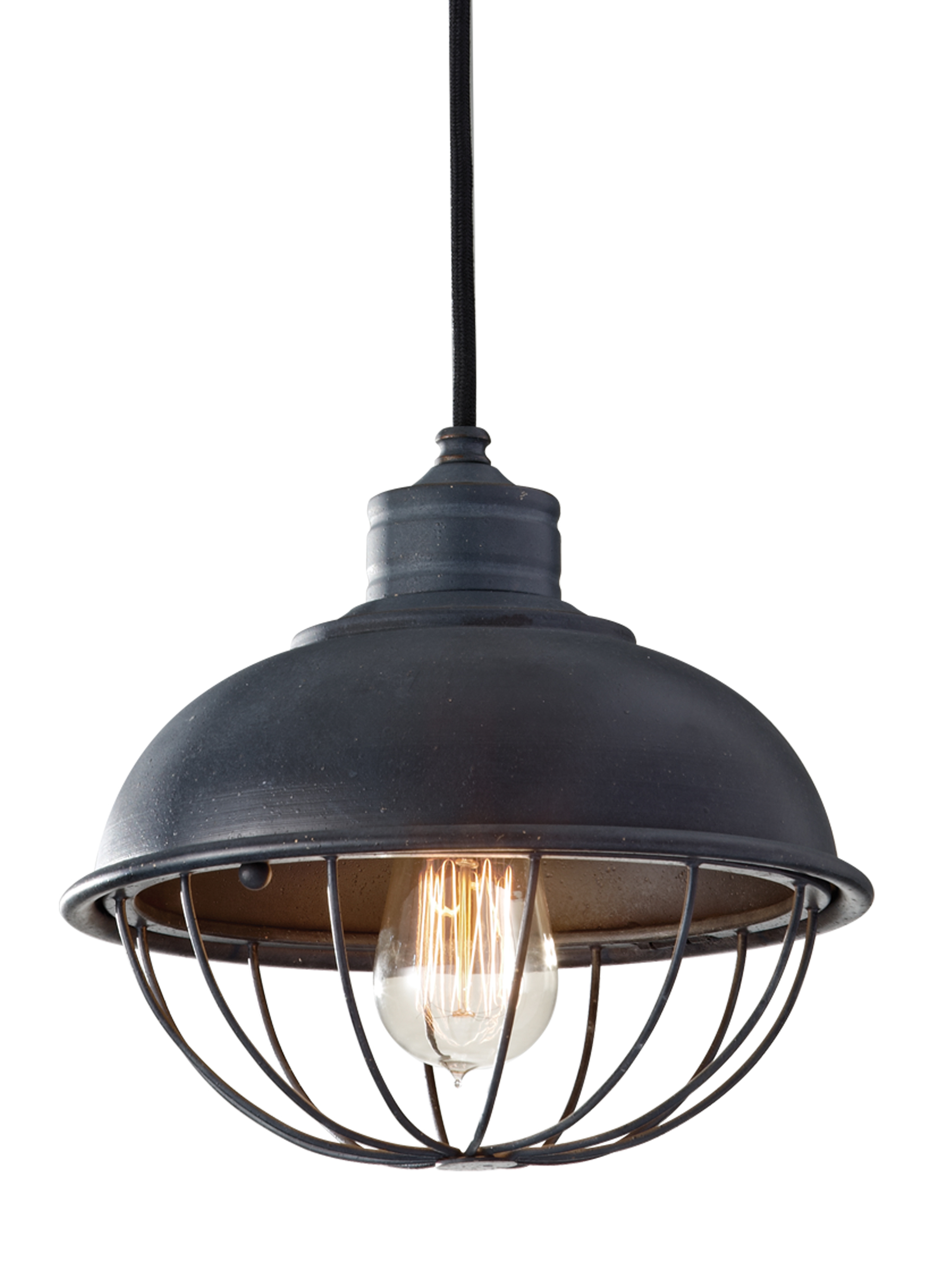 P1242AF,1-Light Pendant,Antique Forged Iron