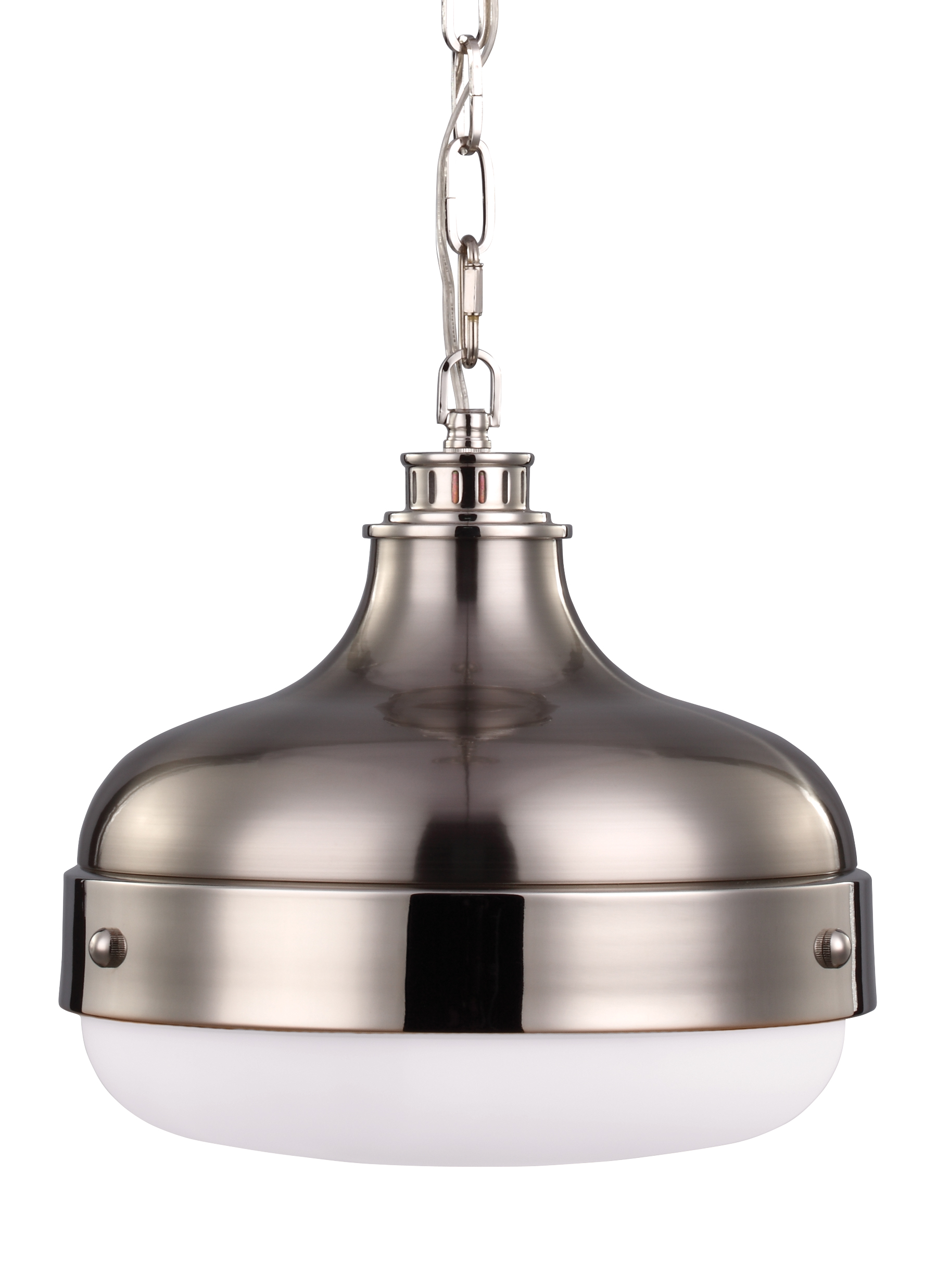P1283pnbs2 light pendantpolished nickel brushed steel loading zoom mozeypictures Gallery