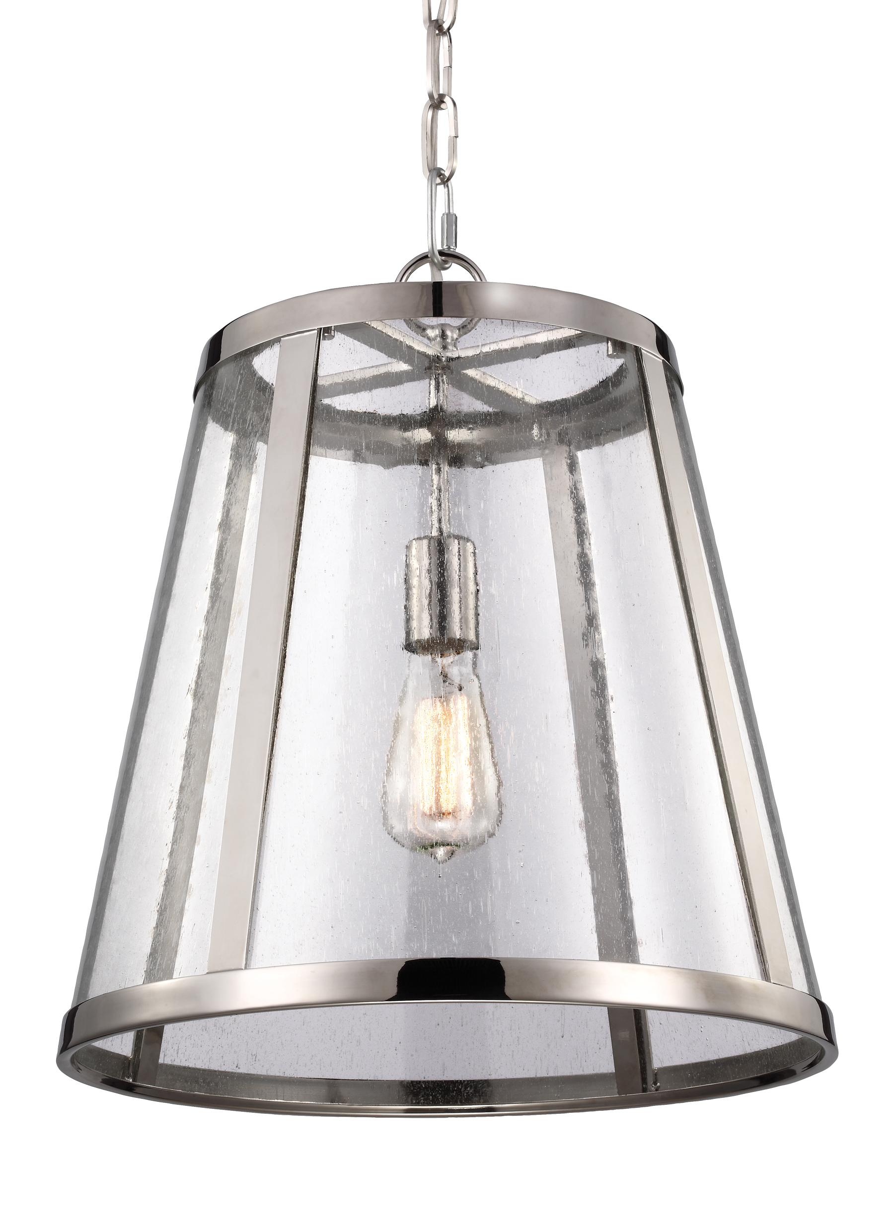 P1289PN 1 Light Pendant Polished Nickel