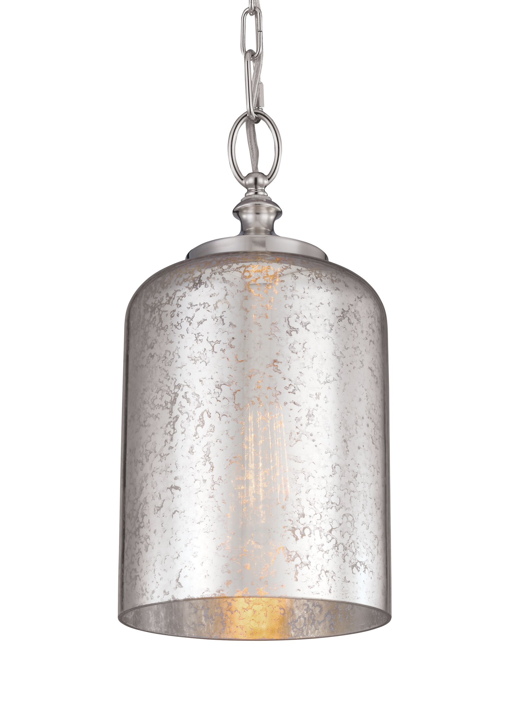 P1320PN 1 Light Hounslow Mini Pendant Polished Nickel