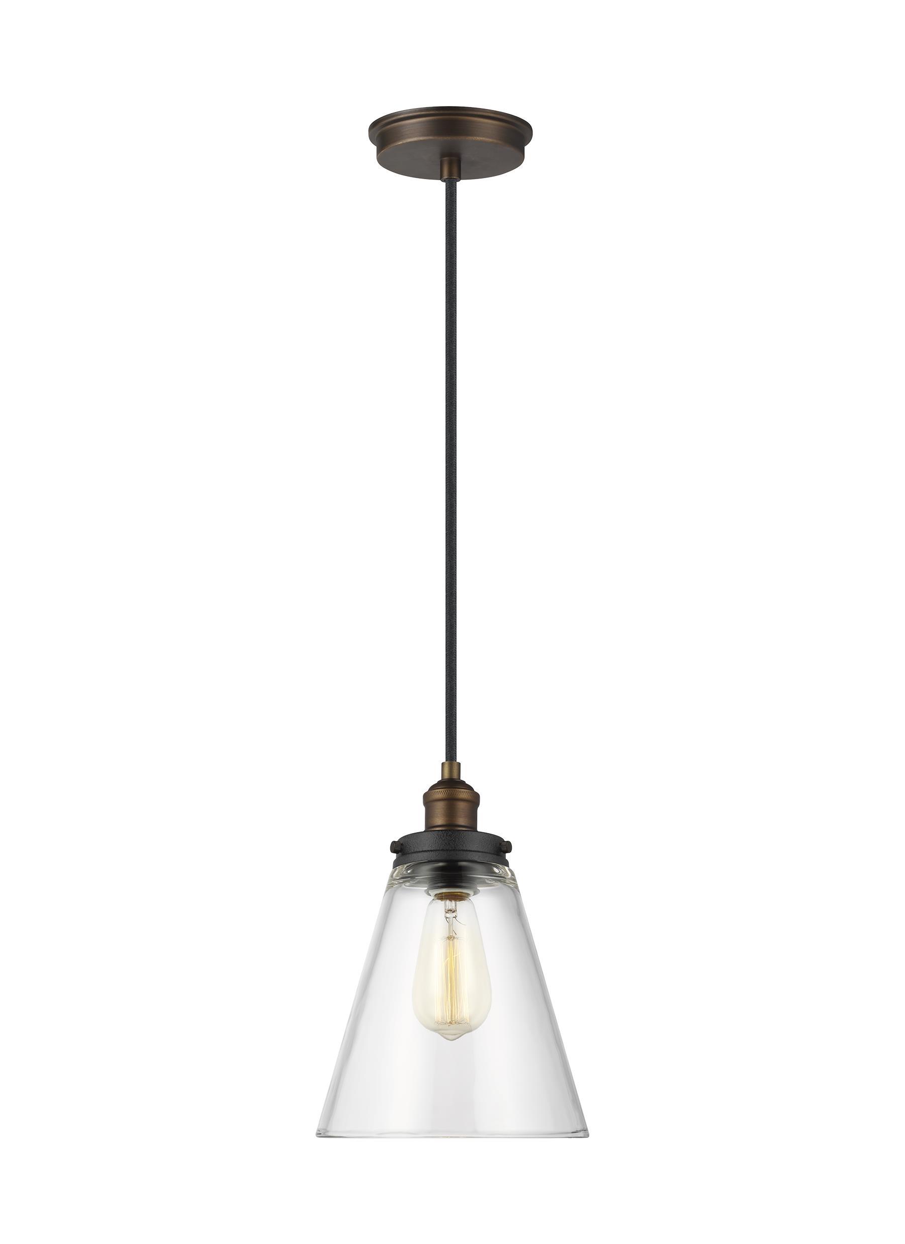 p1347pagb dwz 1 light pendant painted aged brass dark weathered zinc