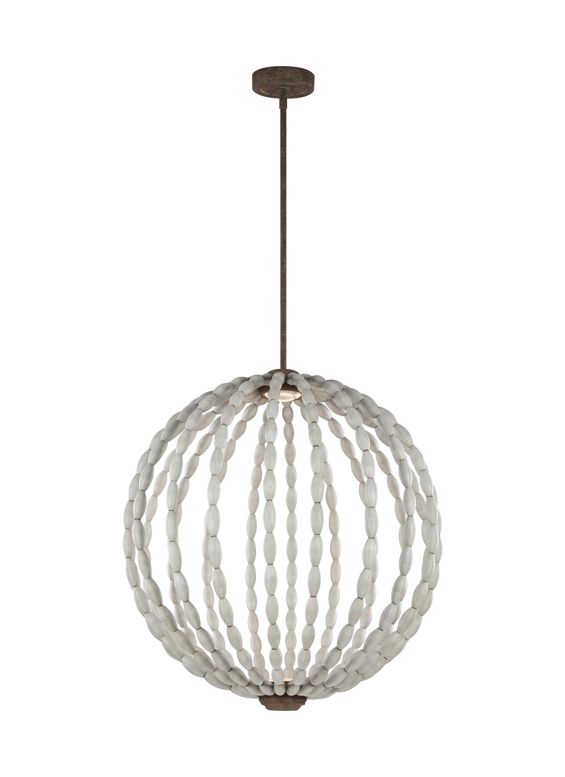 P1433DWG/WI-LED,2 - Light LED Pendant,Driftwood Grey / Weathered Iron