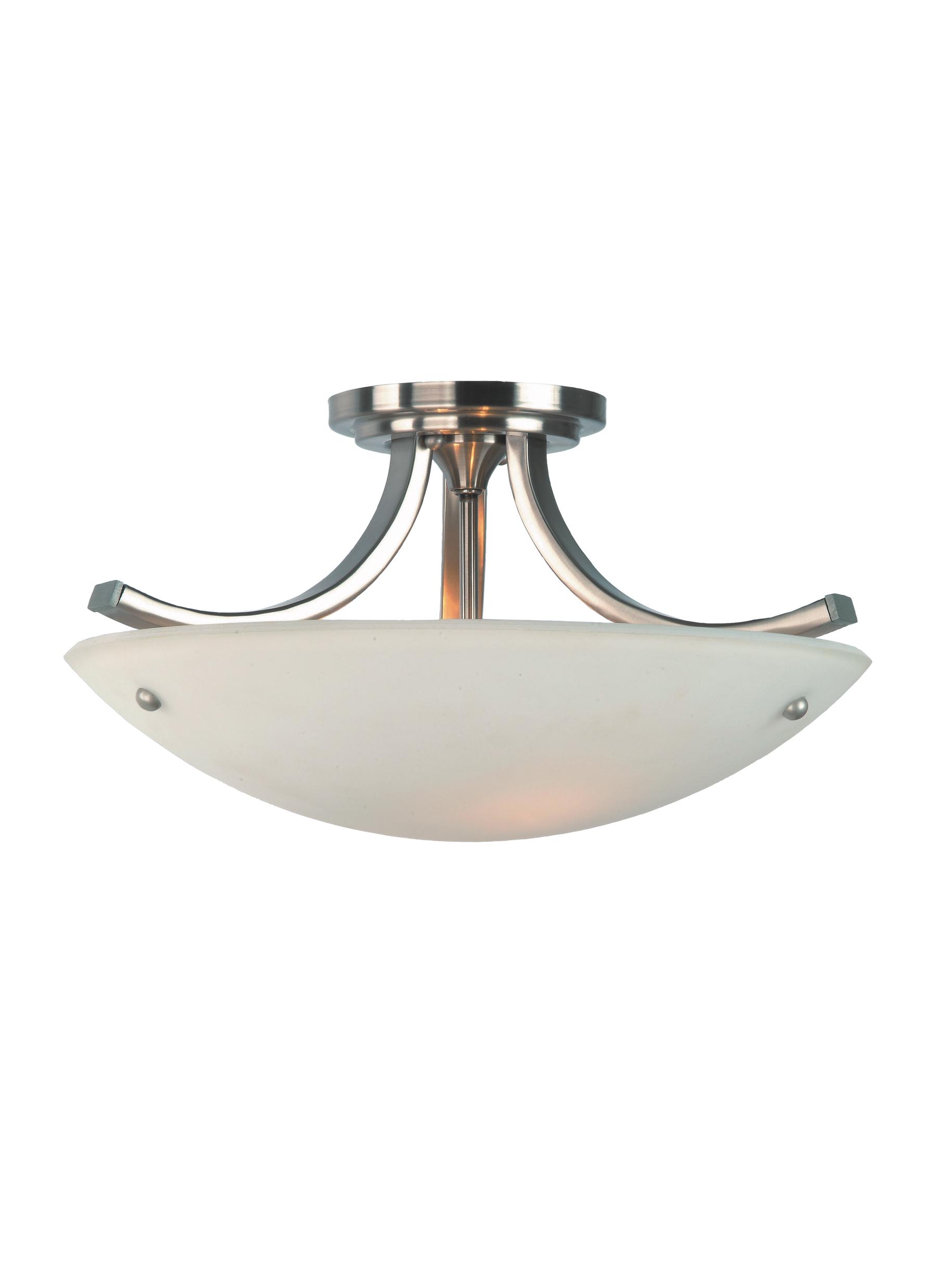 Sf189bspn3 light indoor semi flush mountbrushed steel loading zoom mozeypictures Images