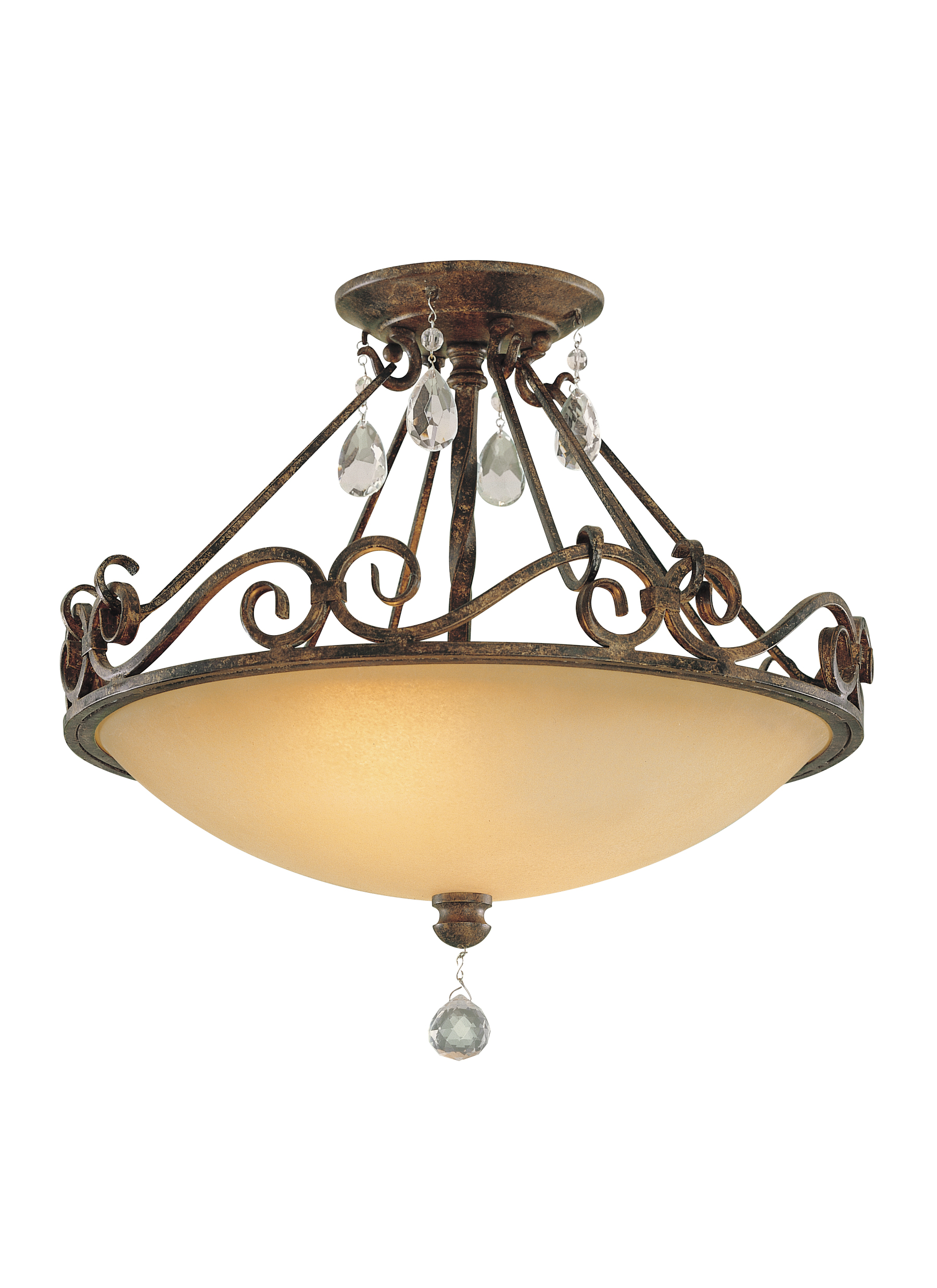 Chateau from feiss chateau collection 2 light indoor semi flush mount aloadofball Images