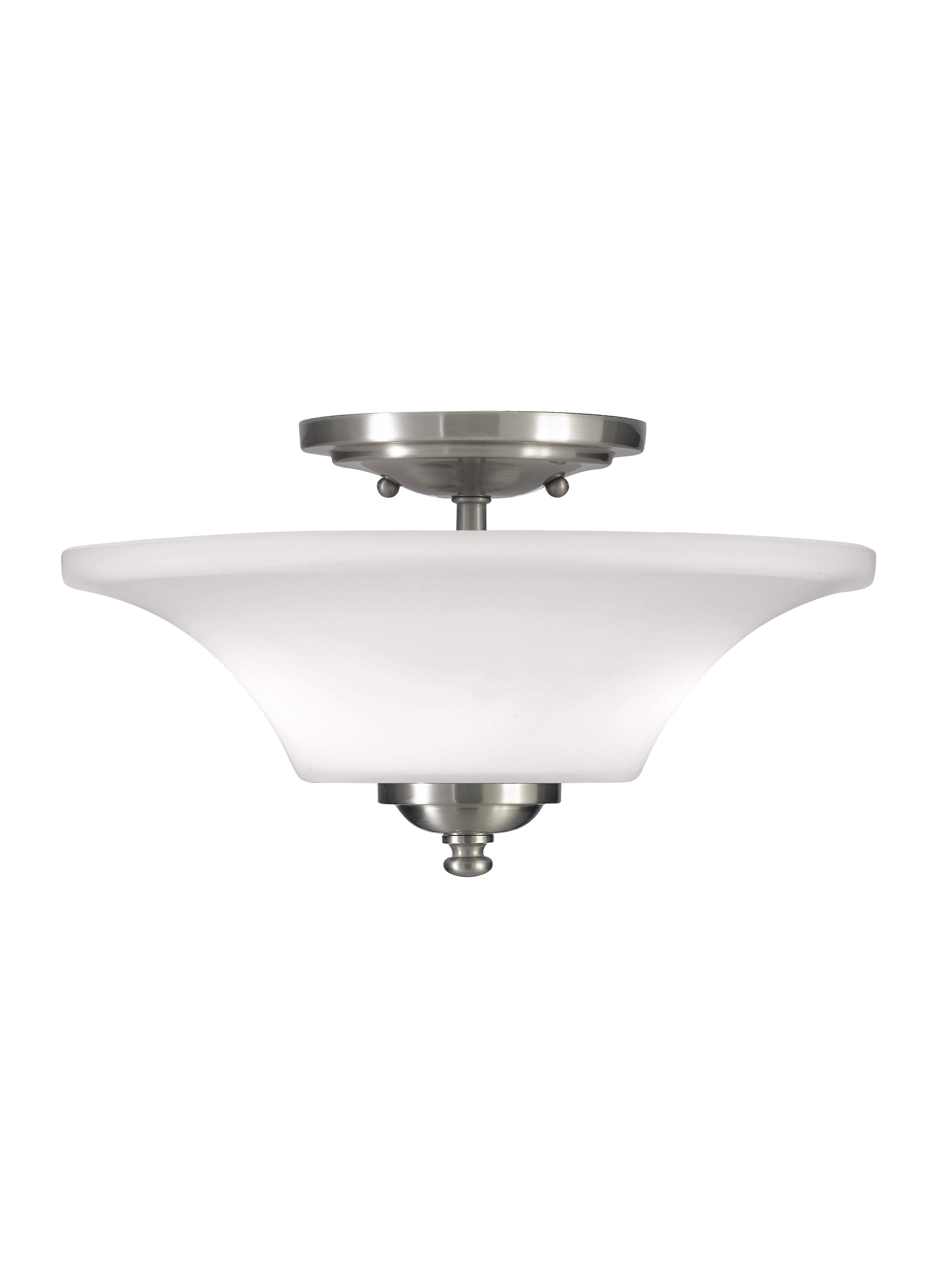 SF240BS,2 - Light Indoor Semi-Flush Mount,Brushed Steel