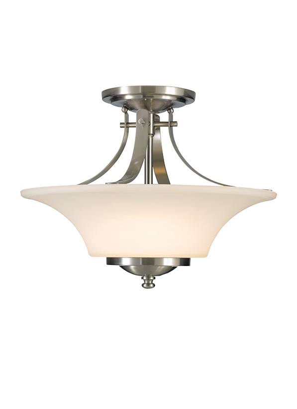 Sf241bs2 light indoor semi flush mountbrushed steel