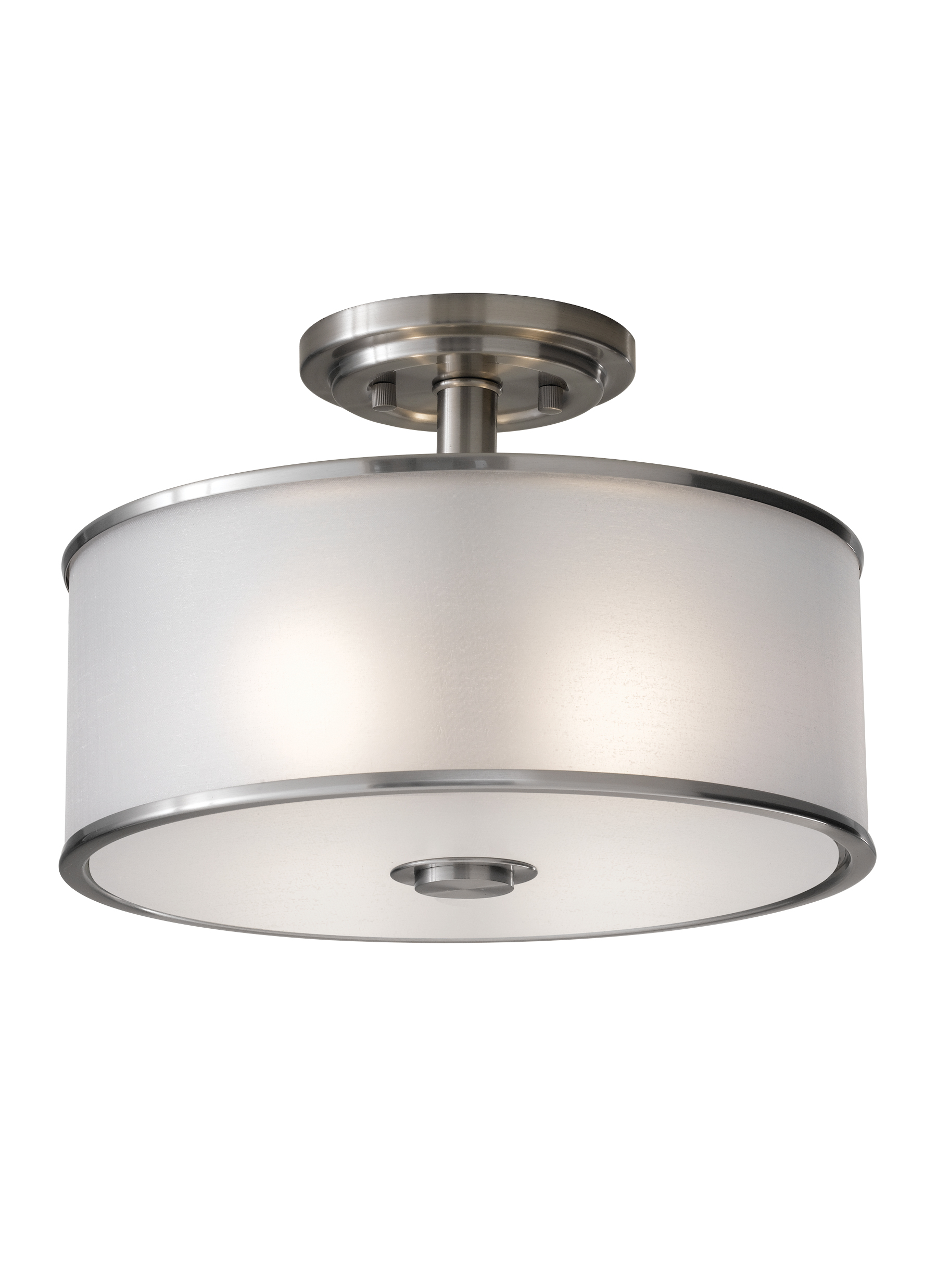 SF251BS 2 Light Indoor Semi Flush Mount Brushed Steel
