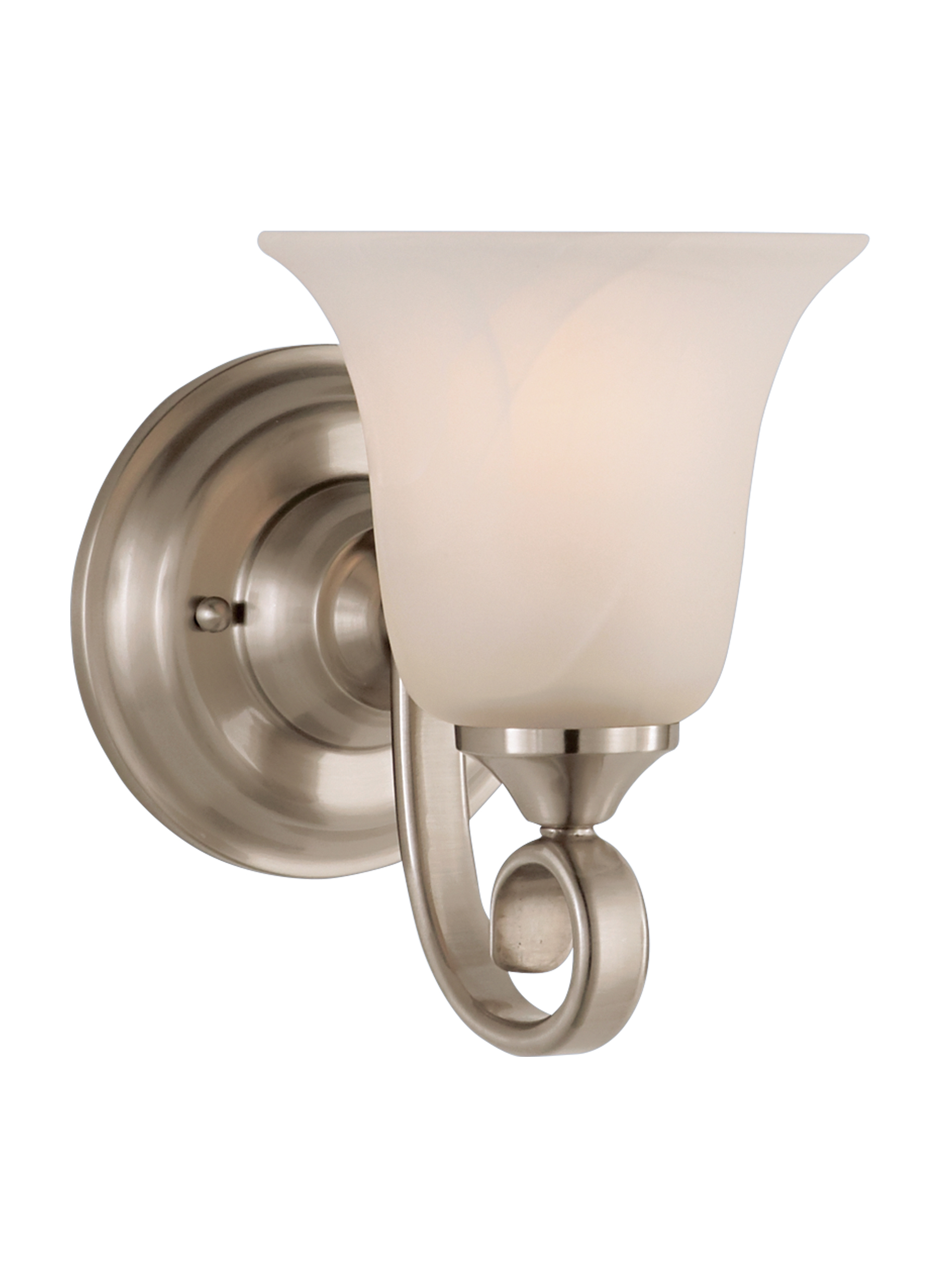 VS BS 1 Light Vanity Fixture Brushed Steel
