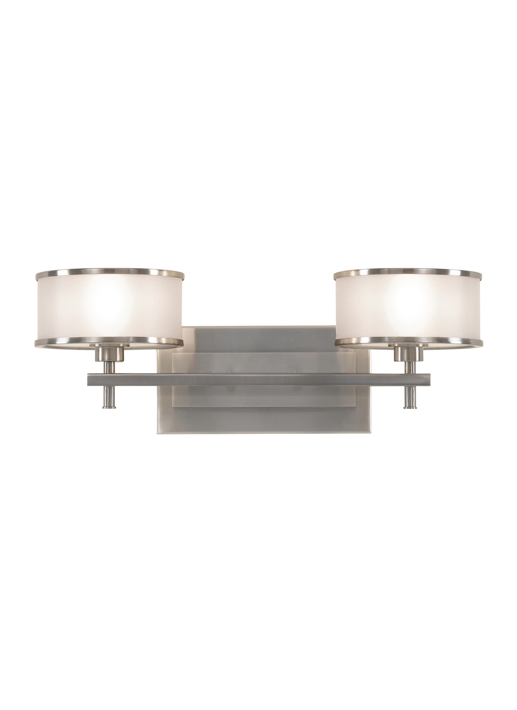 VS13702-BS,2 - Light Vanity Fixture,Brushed Steel