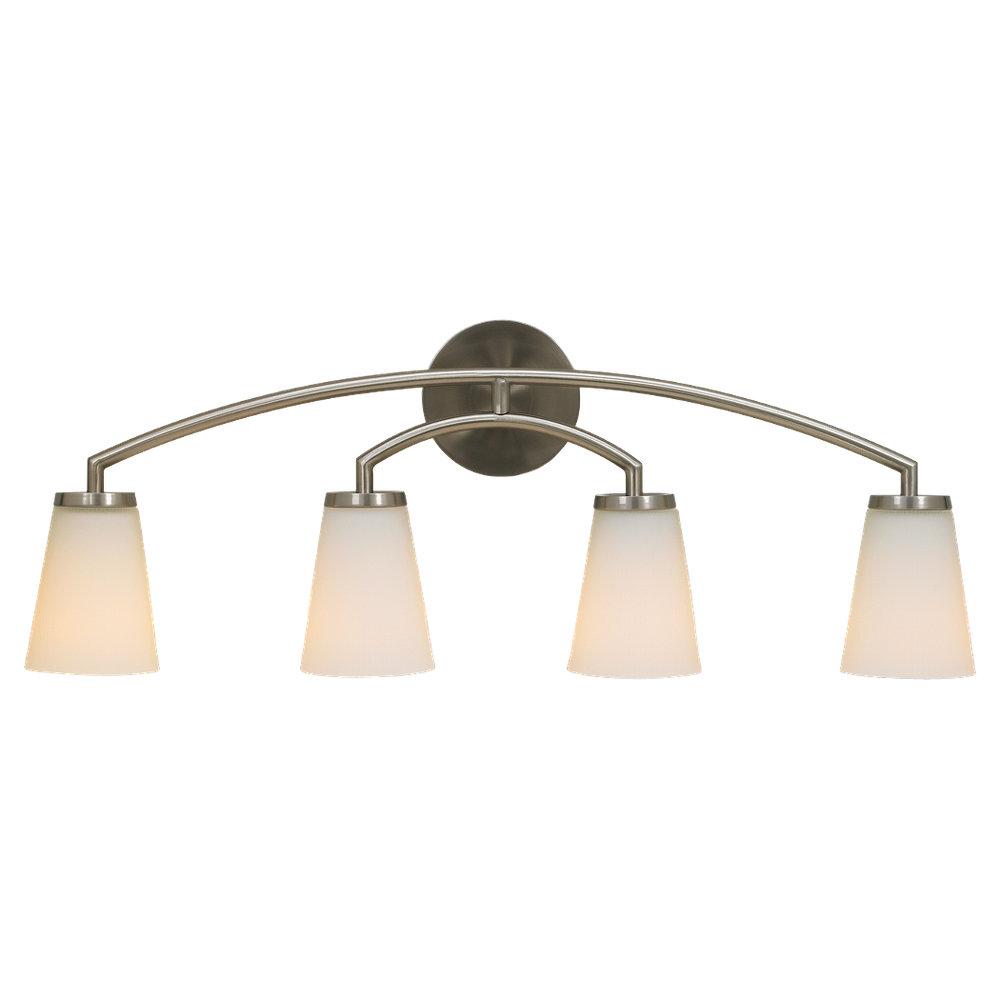 VS15804-BS,4 - Light Vanity Fixture,Brushed Steel