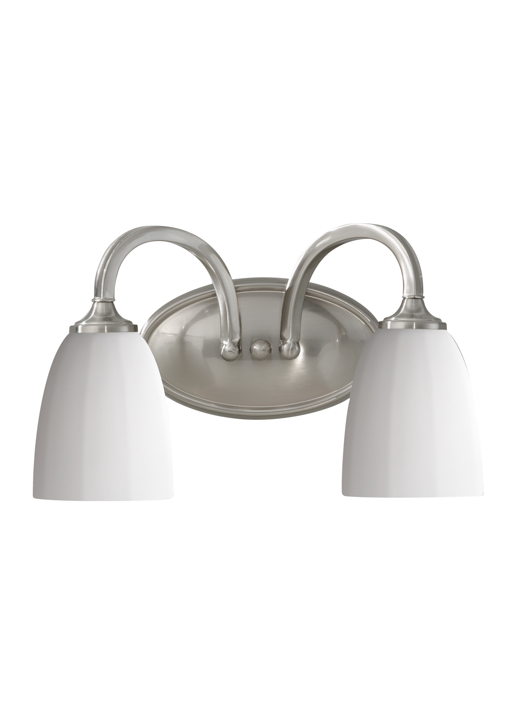 Vs17402 Bs 2 Light Vanity Fixture Brushed Steel