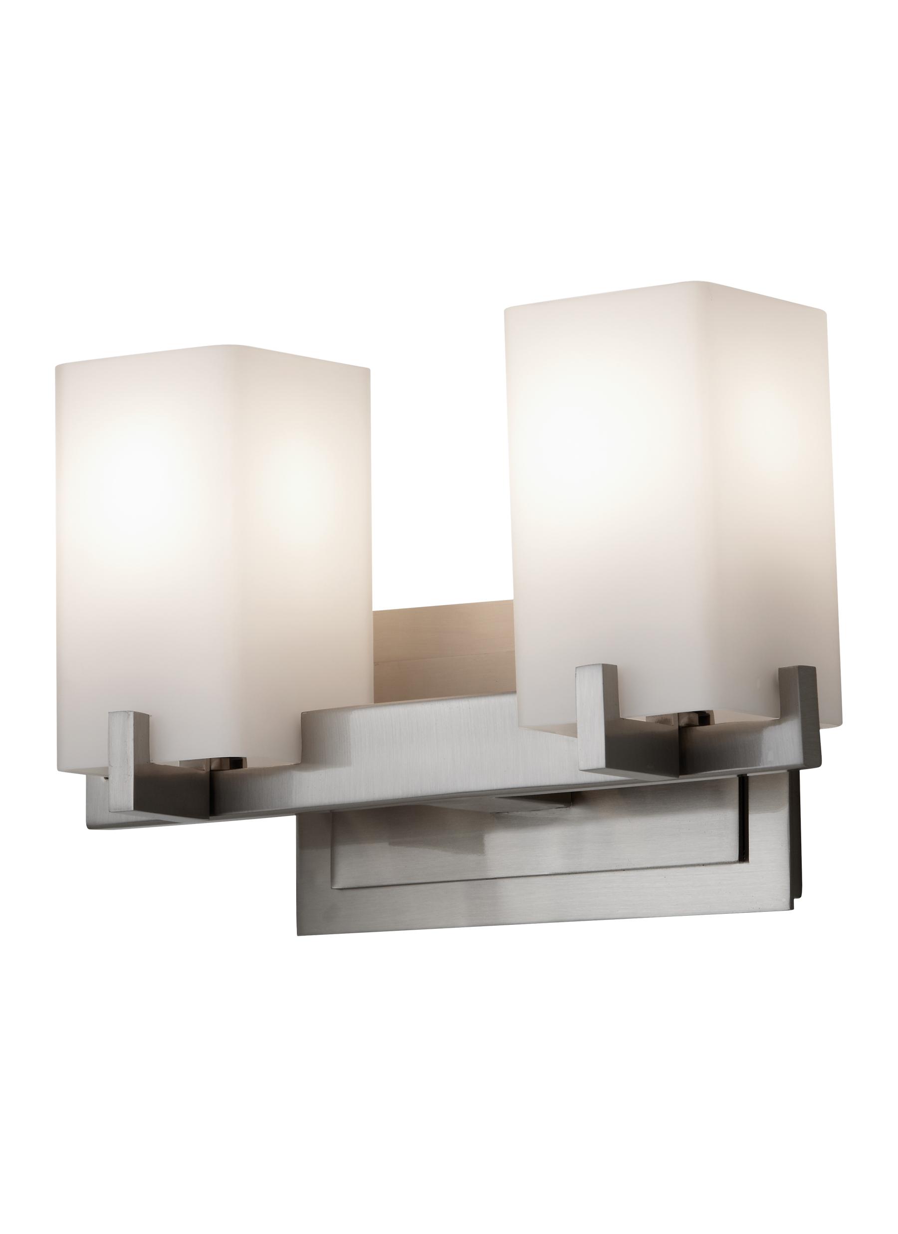 VS18402-BS,2 - Light Vanity Fixture,Brushed Steel