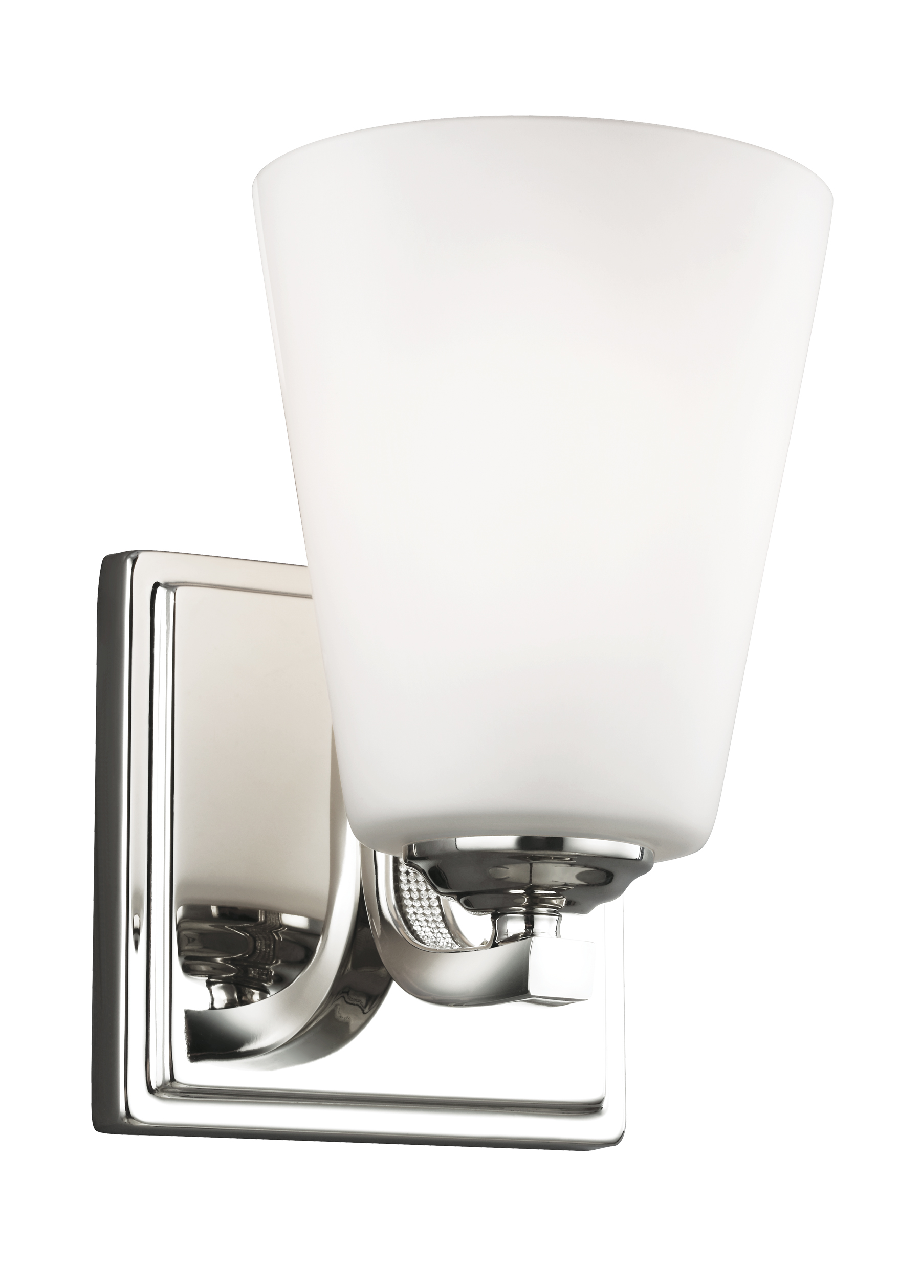 polished light sconce nickel vanity como single bathroom