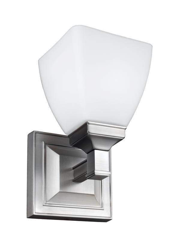 vs22801sn1 light wall sconcesatin nickel - Chrome Bathroom Sconces