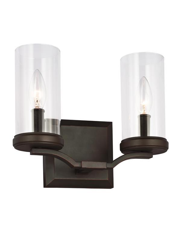 VS23202DAC/AC,2   Light Vanity,Dark Antique Copper / Antique Copper