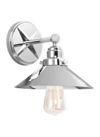 Vs23401ch 1 light wall sconce chrome for Chrome bathroom sconce with shade