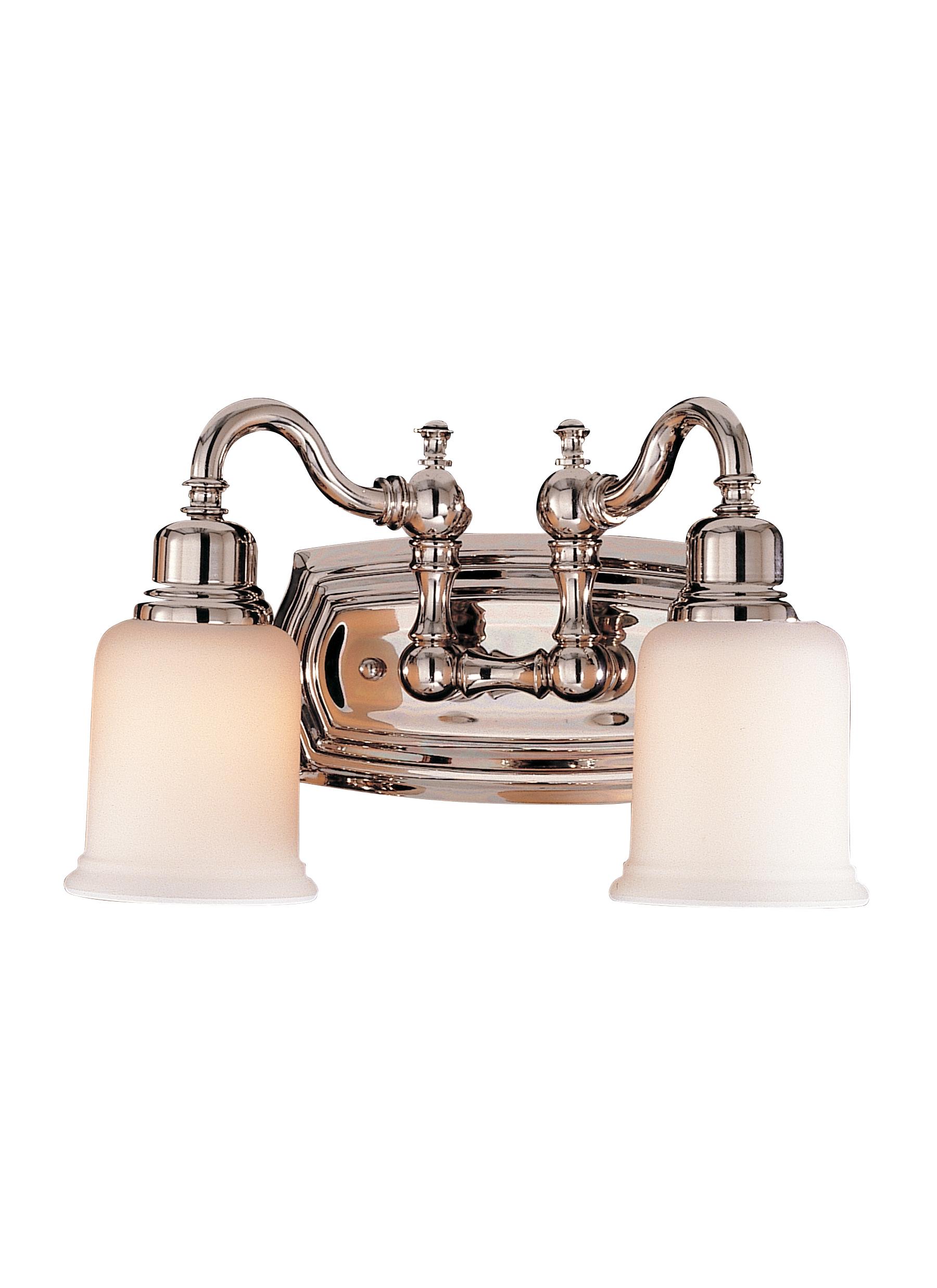 Bathroom Light Fixtures Polished Nickel vs8002-pn,2 - light vanity fixture,polished nickel