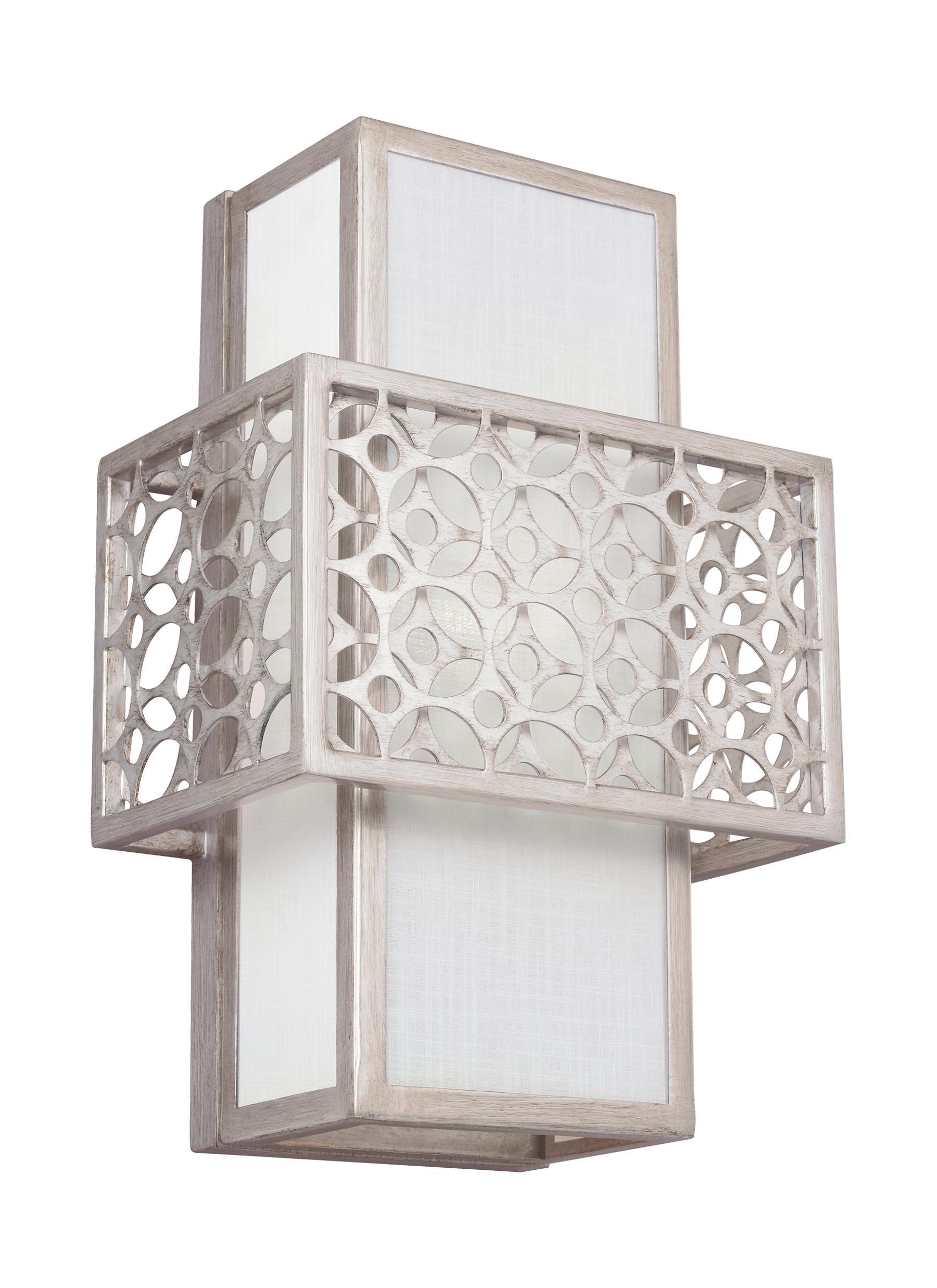 WB1819SRS,1 - Light Wall Sconce,Sunrise Silver for Geometric Wall Lamp  199fiz