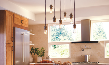 Corddello Lighting Collection From Feiss - Black kitchen lighting collections