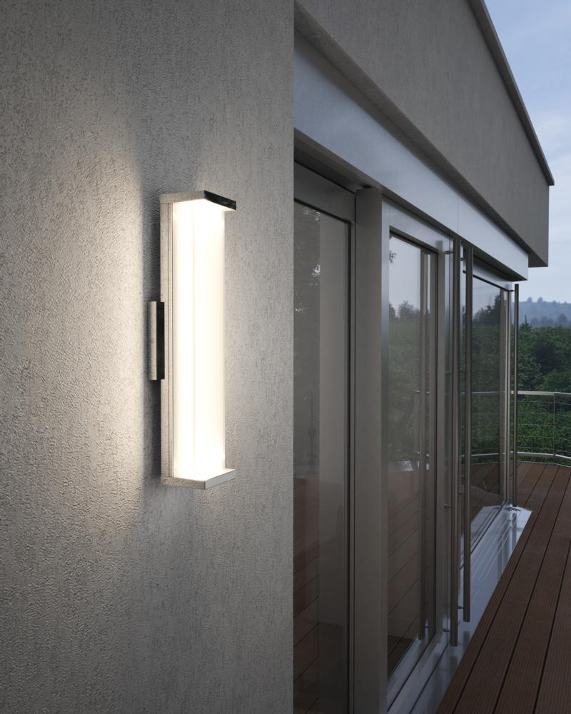 wb1864pst led 24 tall indoor outdoor wall sconce polished